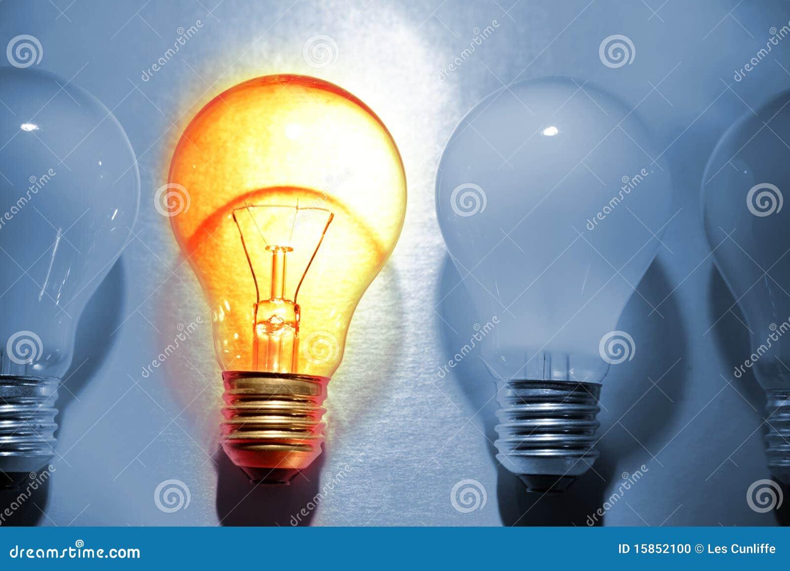 明亮的电灯泡