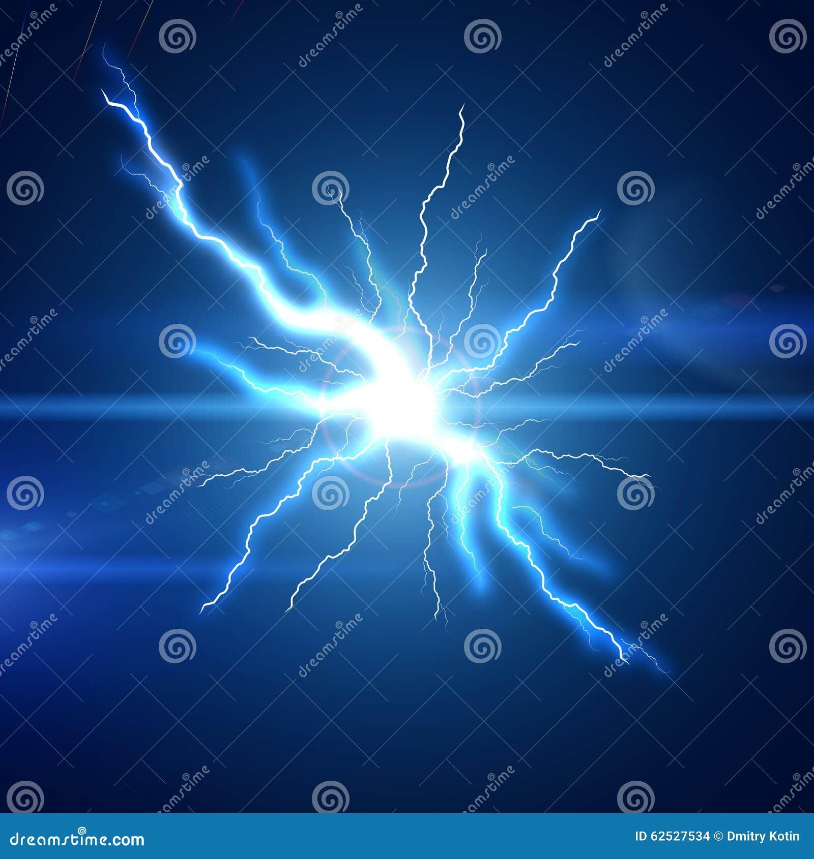 明亮的闪电闪光