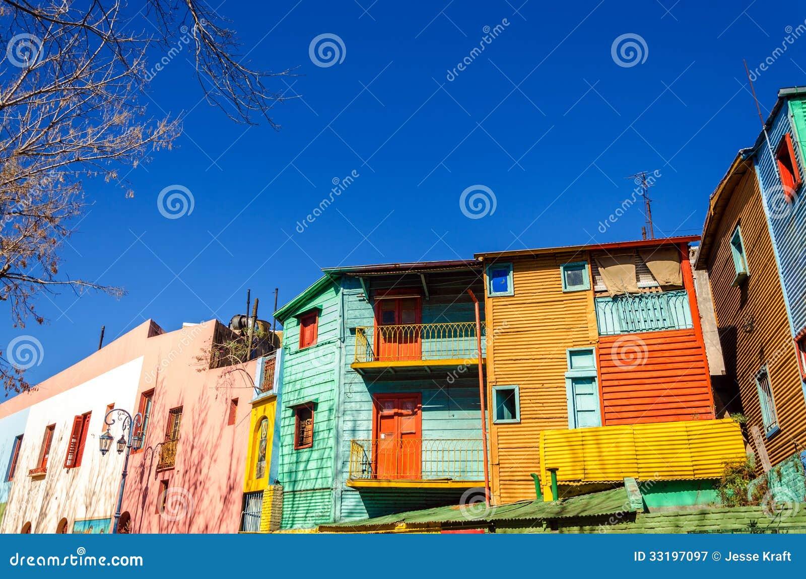 明亮的颜色在布宜诺斯艾利斯