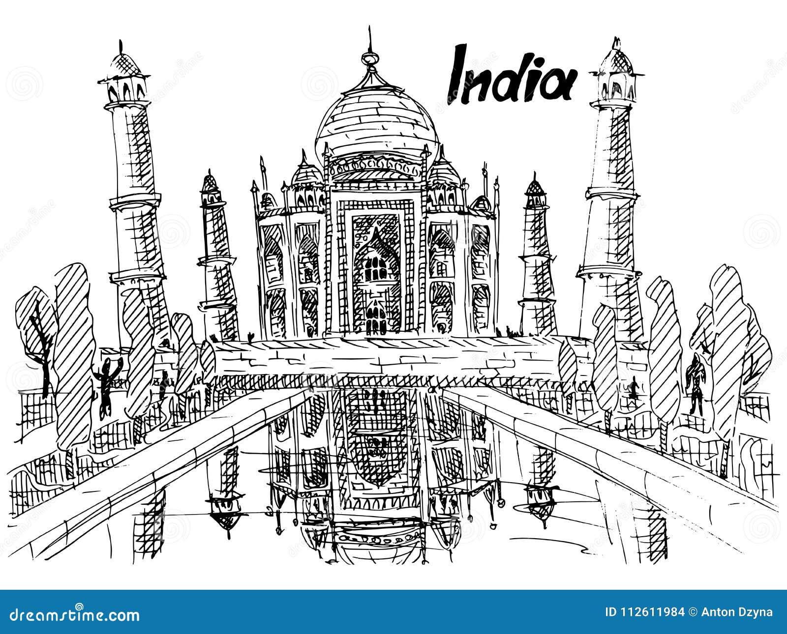 明信片印度泰姬陵略图