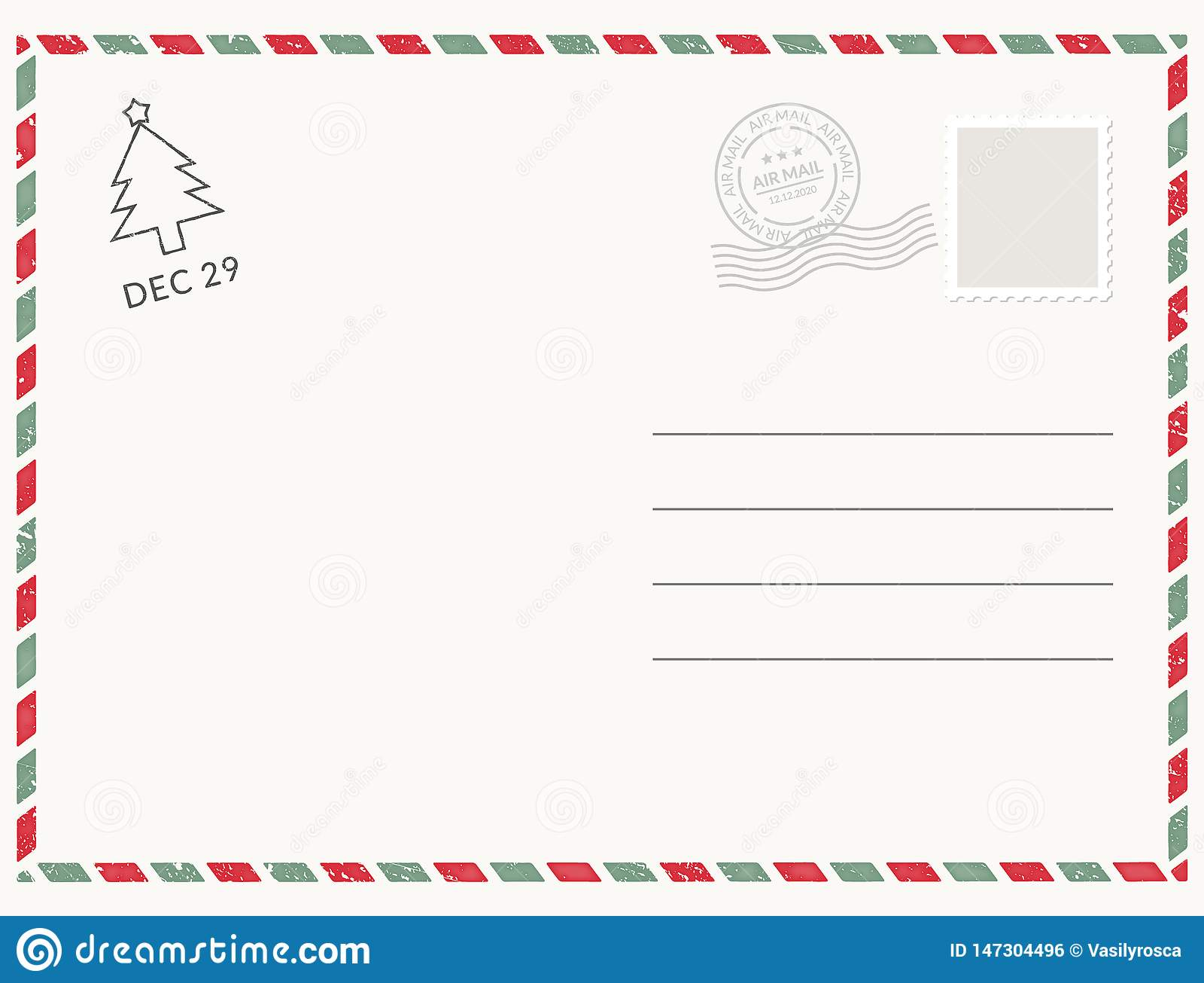 明信片模板纸白色纹理 传染媒介明信片空的邮票和消息设计