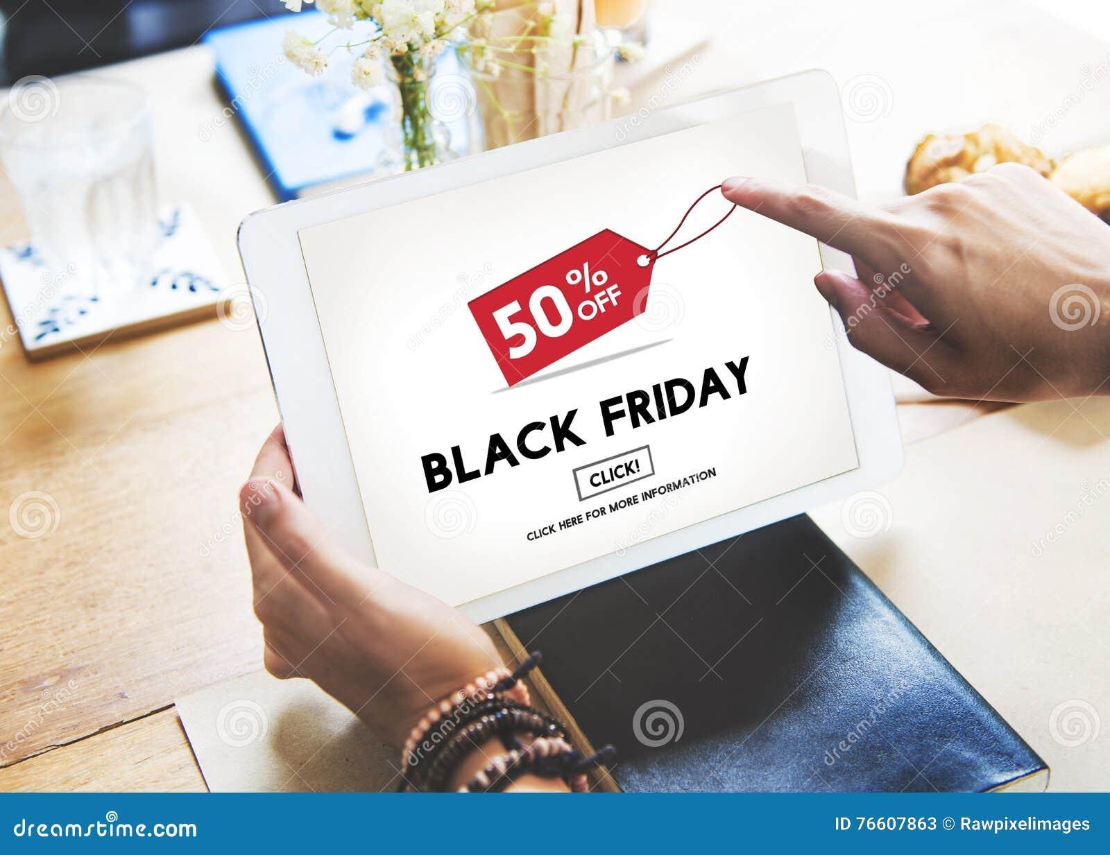 黑星期五促进折扣消费者购物概念
