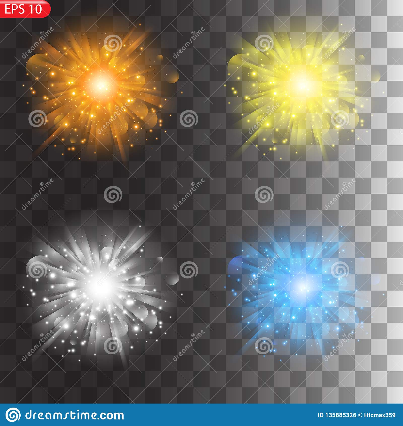星的光线影响