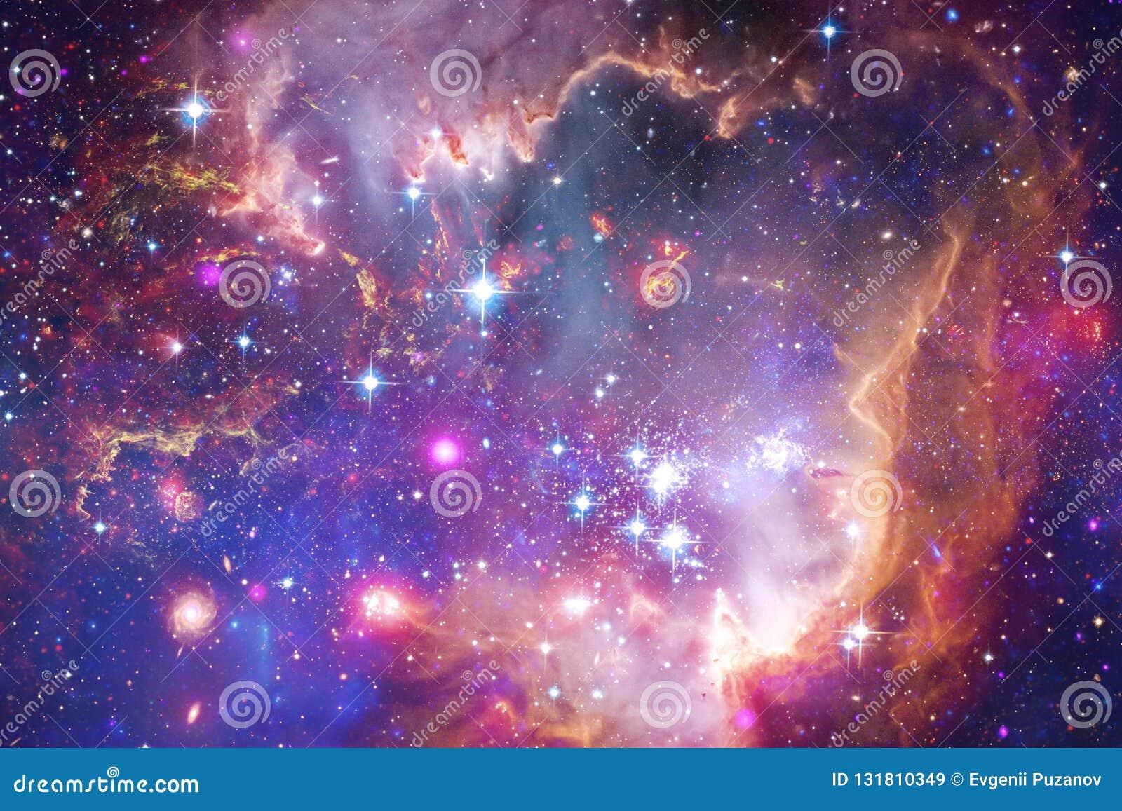 星美丽的星系和群空间夜 美国航空航天局装备的这个图象的元素