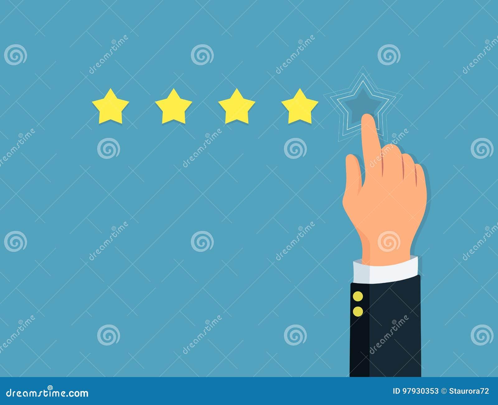 星规定值 人` s手给五星 正面回顾 概念反馈和评估系统