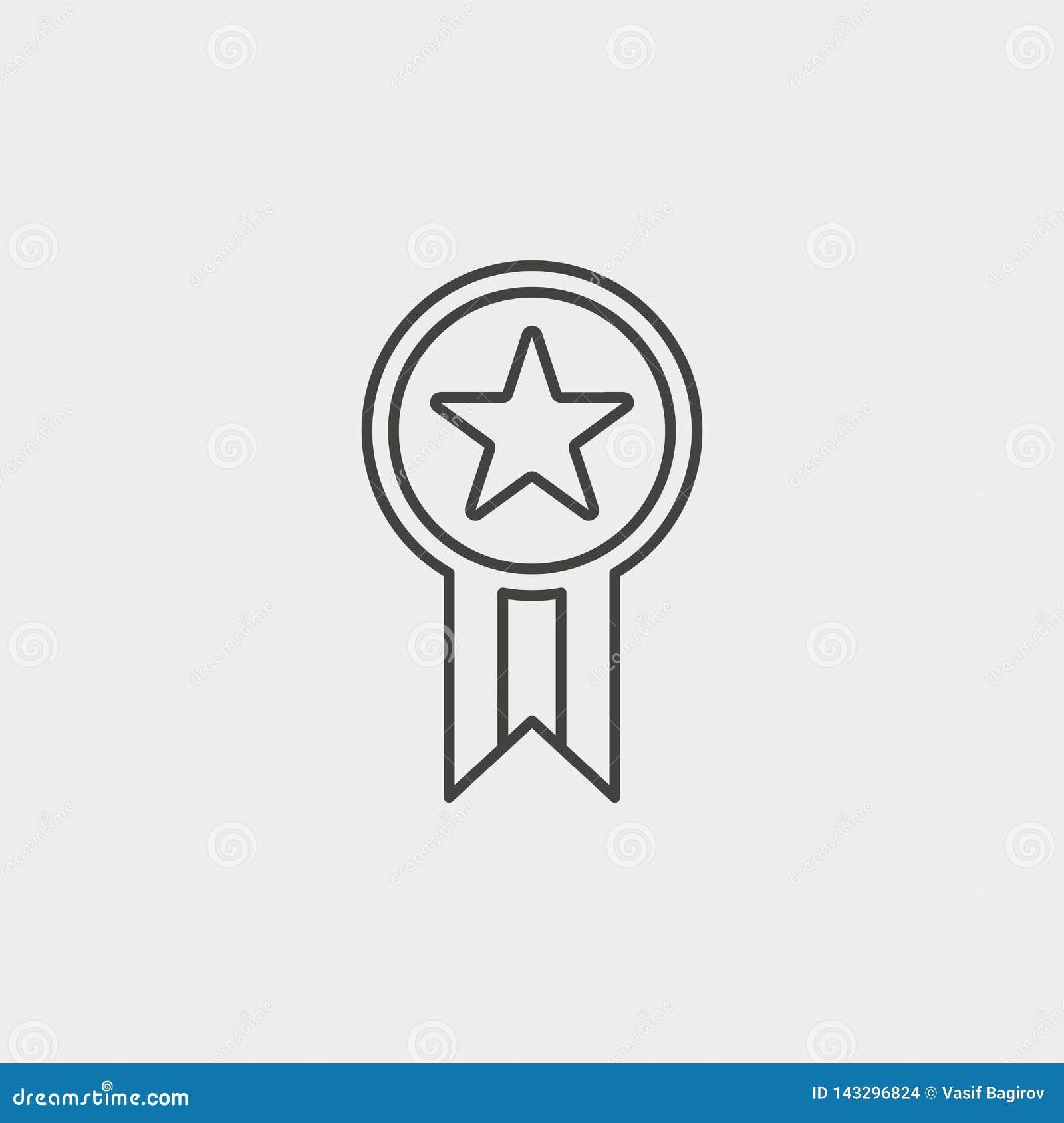 星,奖牌,概述,象 网发展传染媒介象 简单的标志,网络设计,流动应用程序的元素网站的,
