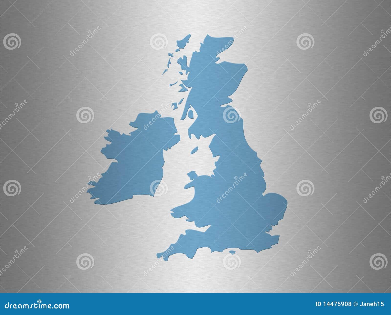 映射分级显示英国