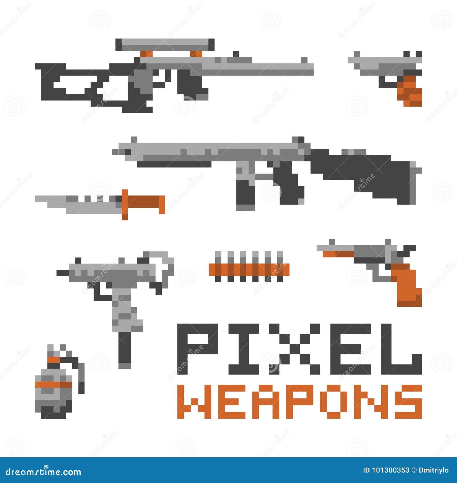 映象点艺术比赛在白色传染媒介集合和枪隔绝的样式武器