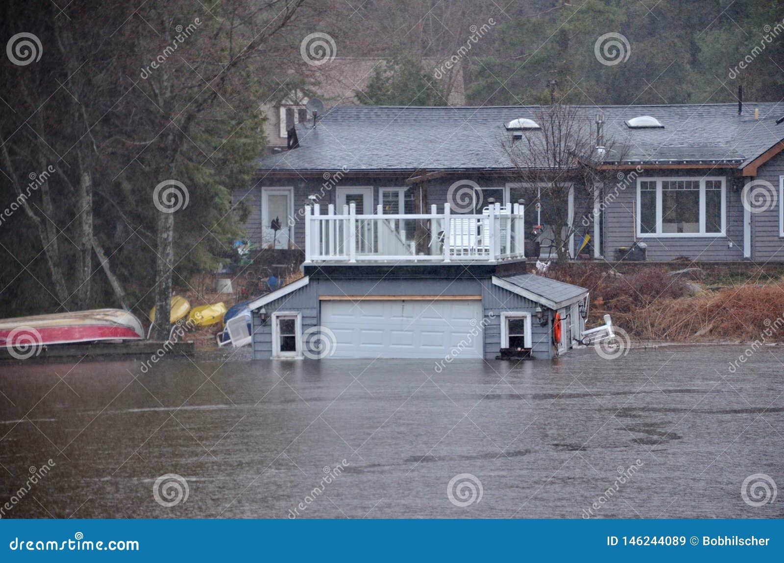 春天洪水在布雷斯布里奇,2019年
