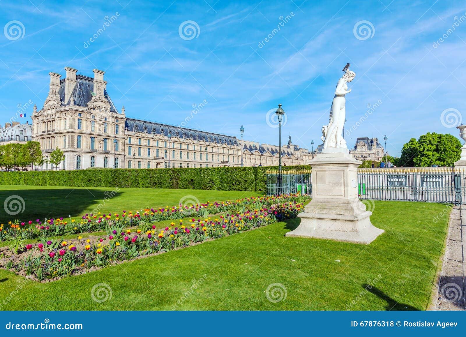 春天的,巴黎,法国Tuileries庭院