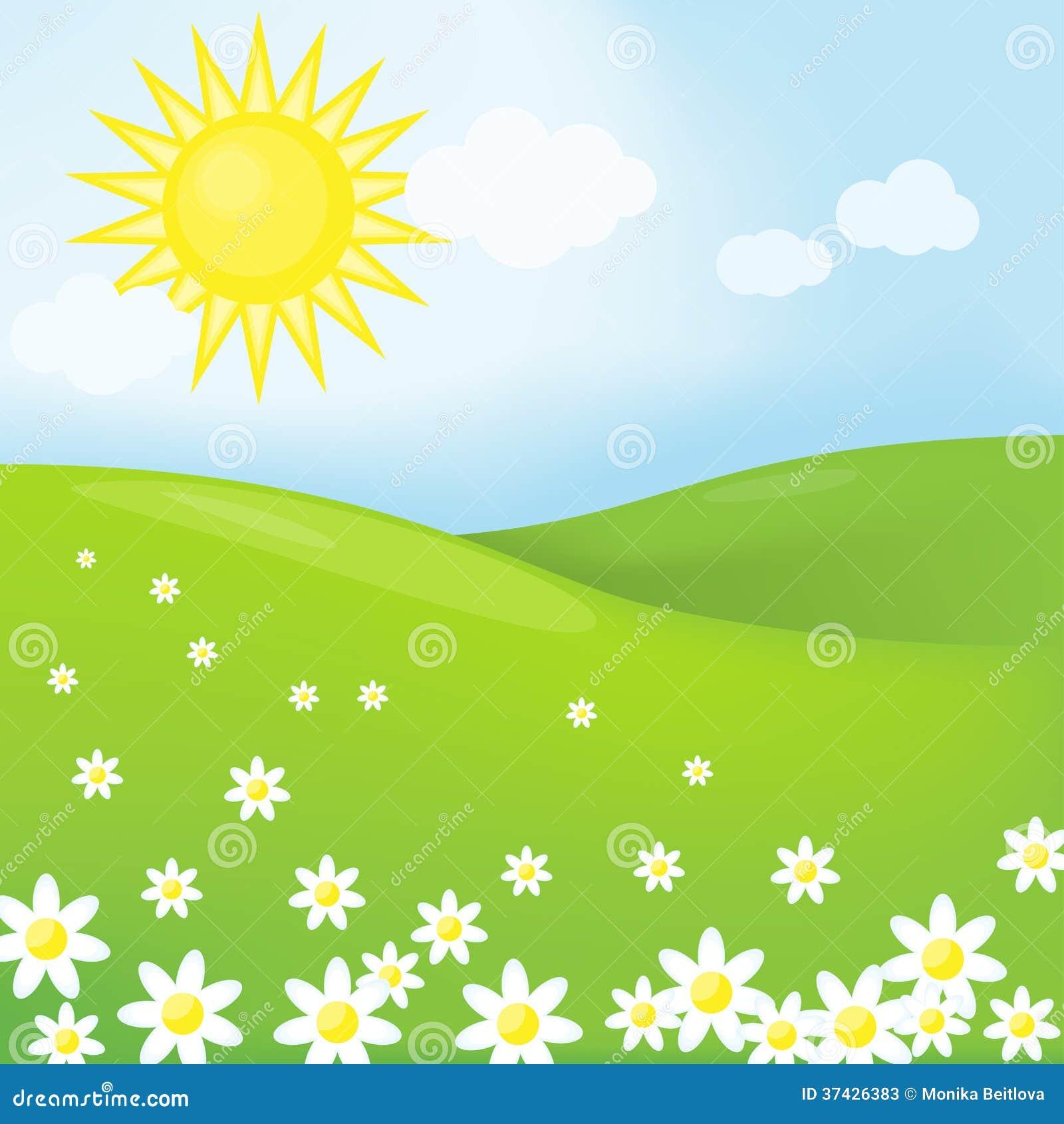春天晴朗的风景