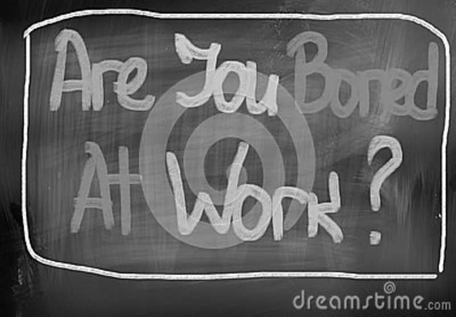 是您乏味在工作概念