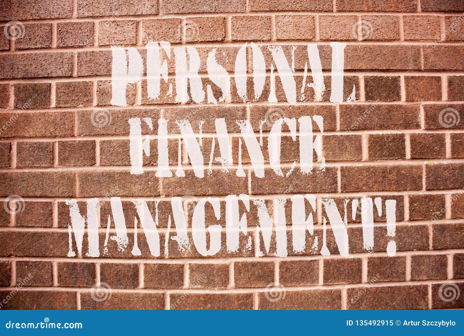 显示个人理财管理的文本标志 概念性照片analysisaging的收入、费用和投资