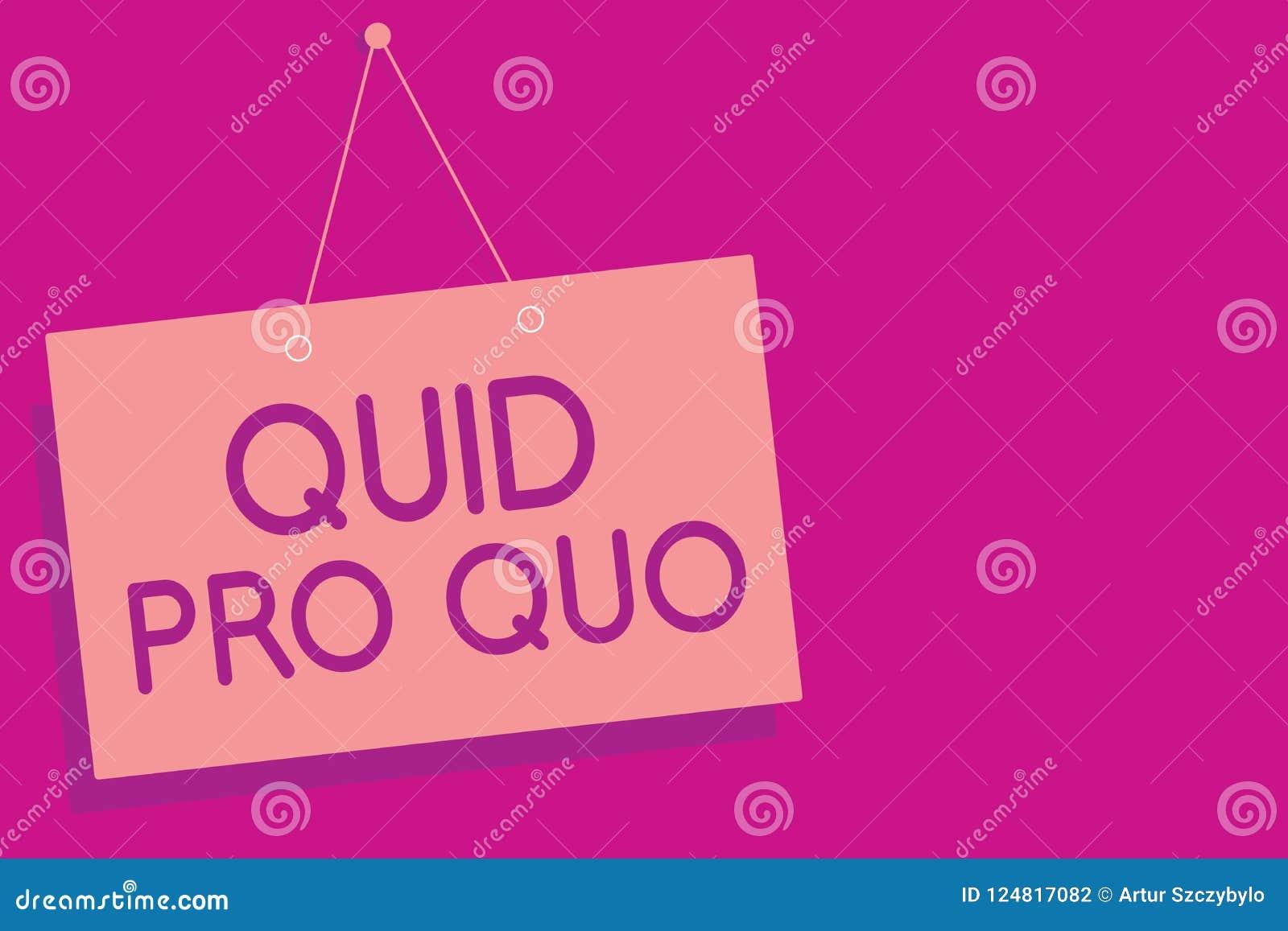 显示交换物的文本标志 概念性照片A厚待或好处被授予或期望反回某事桃红色委员会墙壁m
