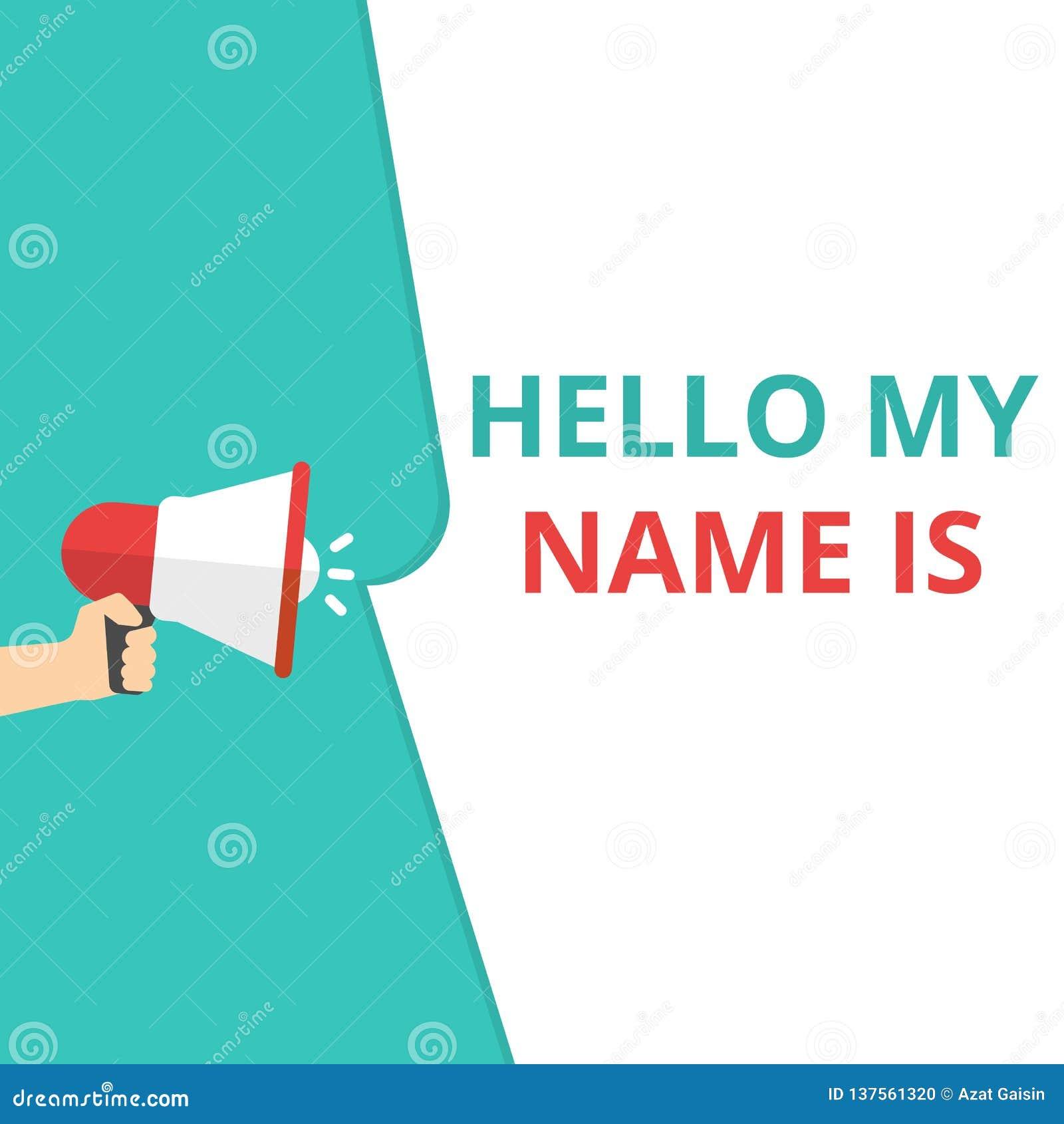 显示你好我的名字的文字笔记是