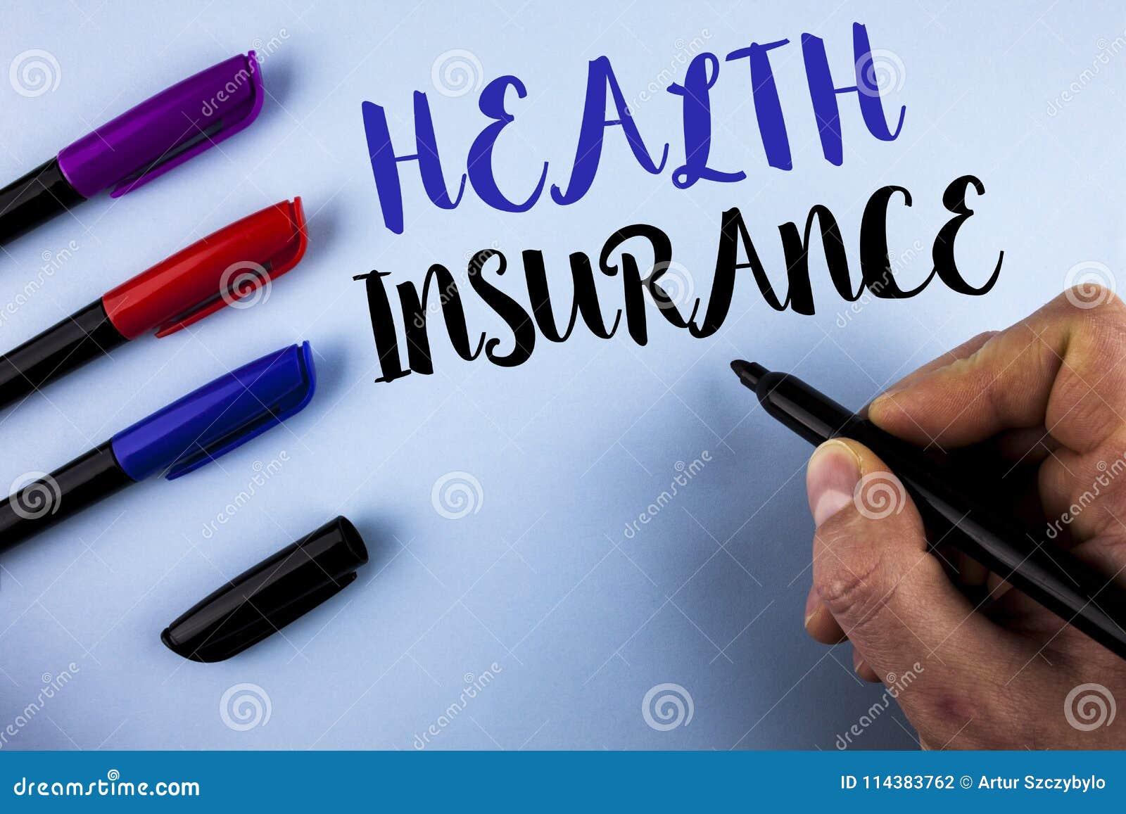 显示健康保险的概念性手文字 企业照片文本健康保险信息覆盖面提供保健服务者wr
