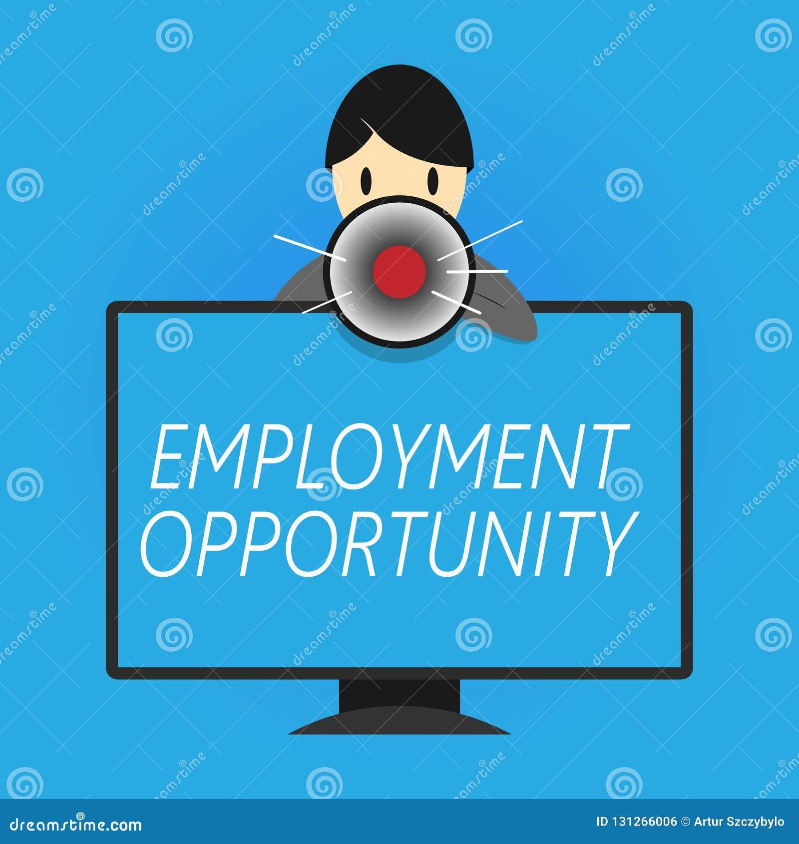 显示工作机会的文字笔记 陈列歧视的企业照片反对申请人均等政策