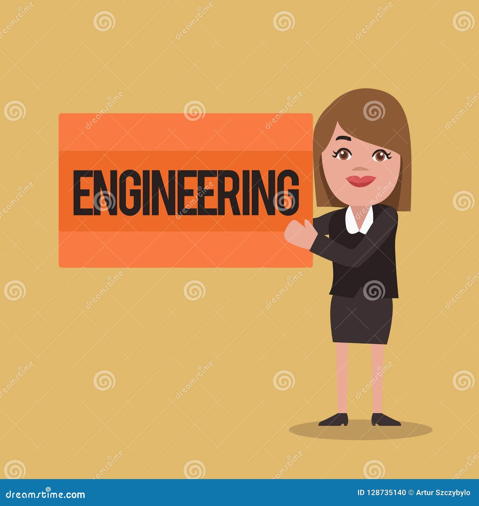 显示工程学的文本标志 与设计对引擎机器的大厦用途有关的概念性照片科学