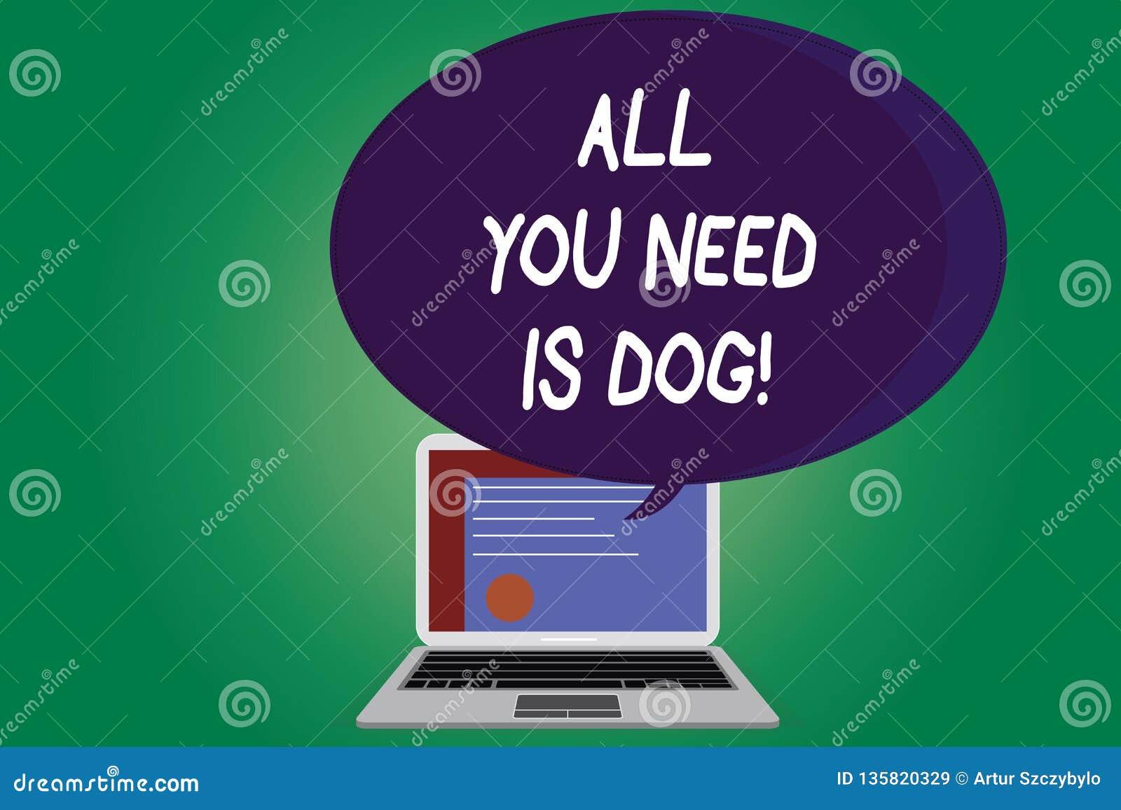 显示您需要的所有的文本标志是狗 概念性照片得到小狗是更加愉快的似犬恋人逗人喜爱的动物证明