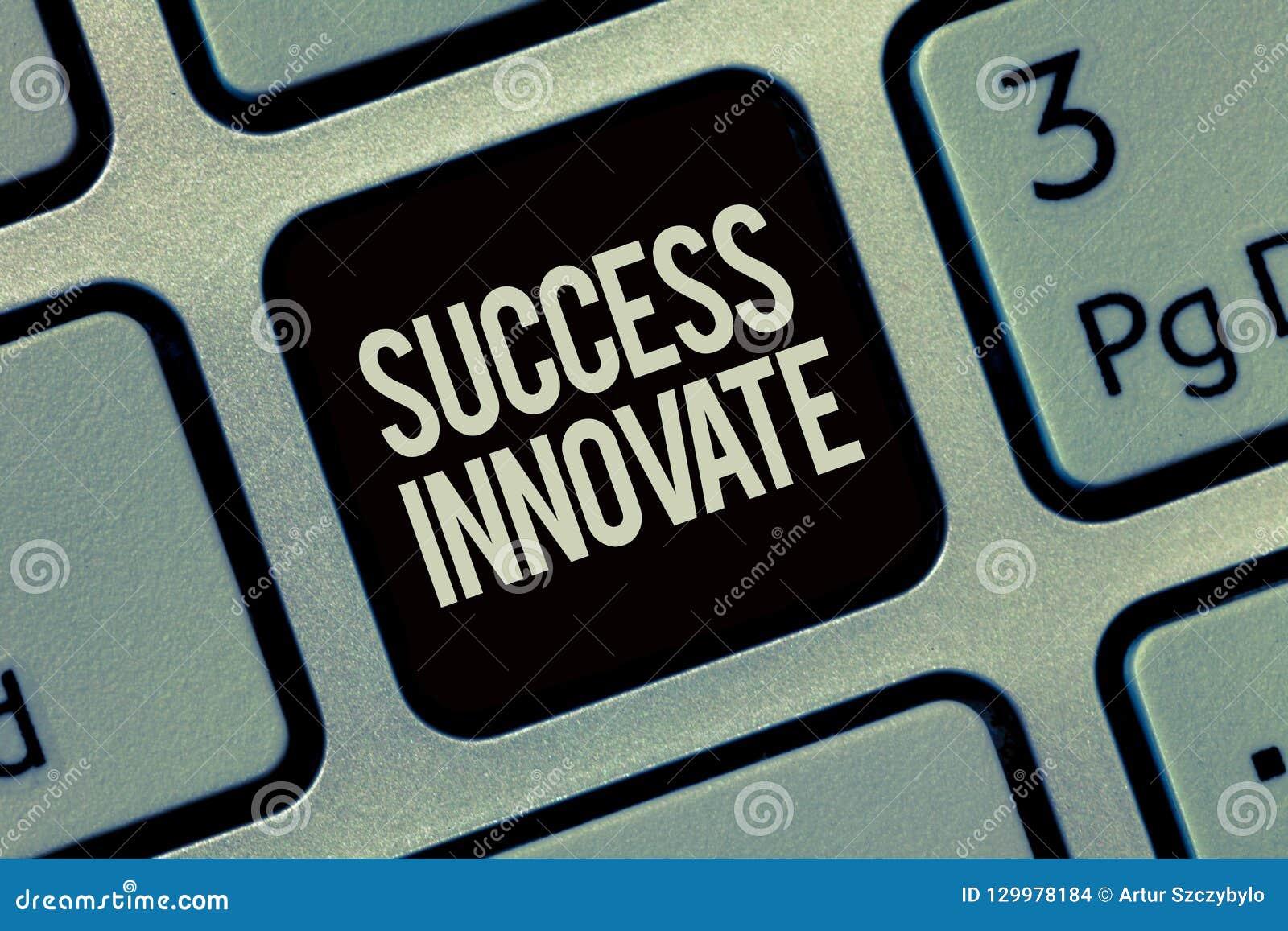 显示成功的文字笔记创新 企业照片陈列使组织能适应对市场力量