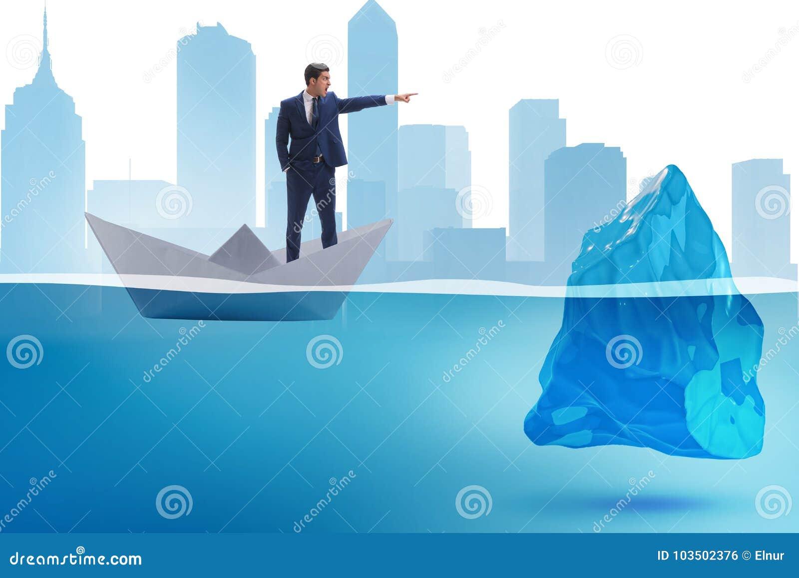 显示方向的商人避免问题作为冰山