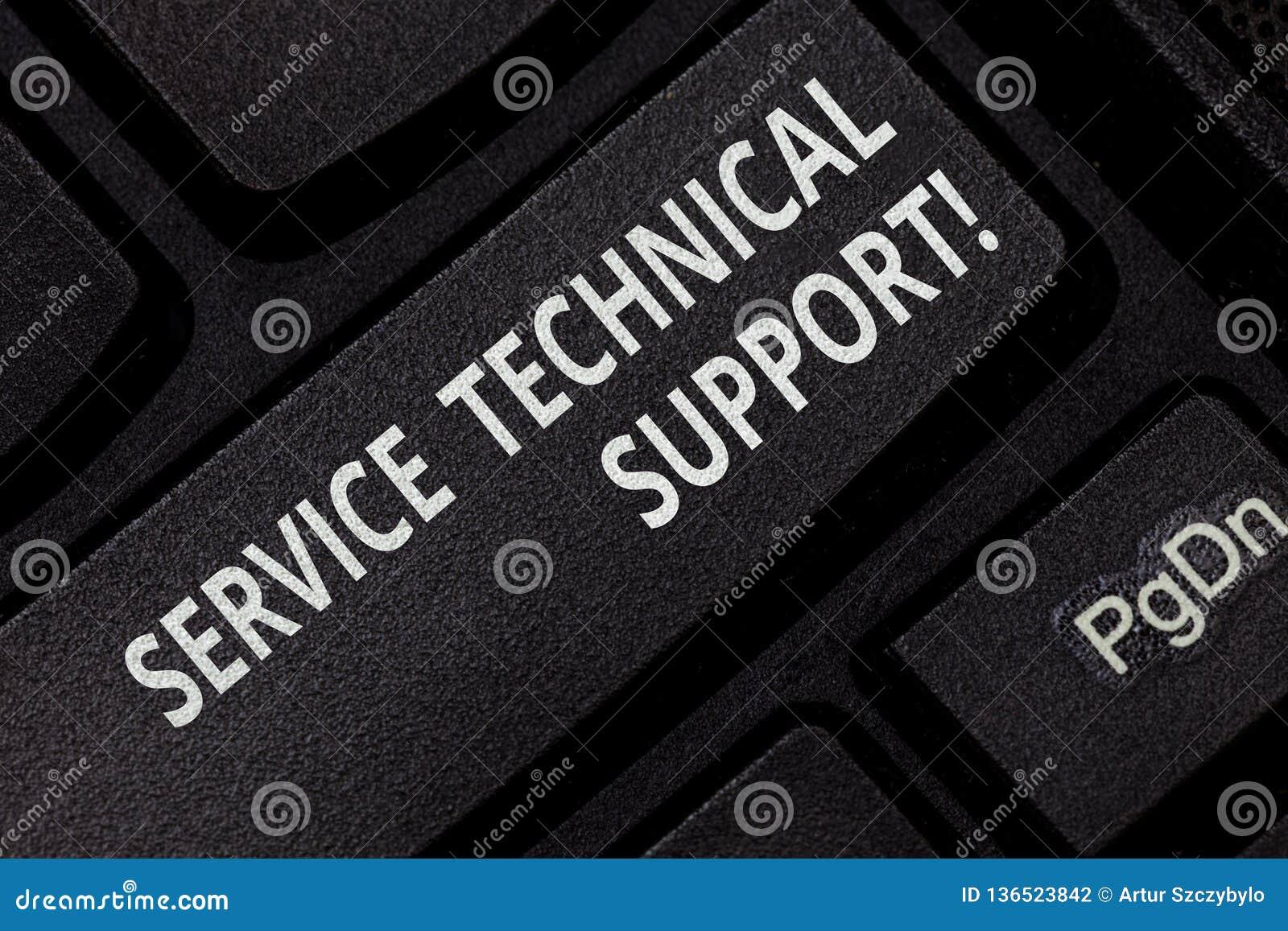 显示服务技术支持的文本标志 个体为产品键盘键的用户提供的概念性照片服务