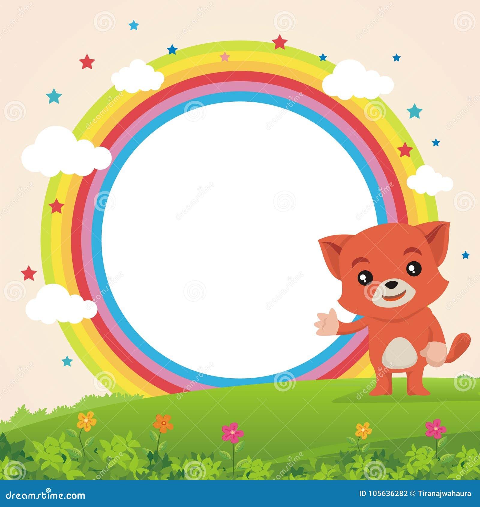 显示某事在彩虹的可爱的猫