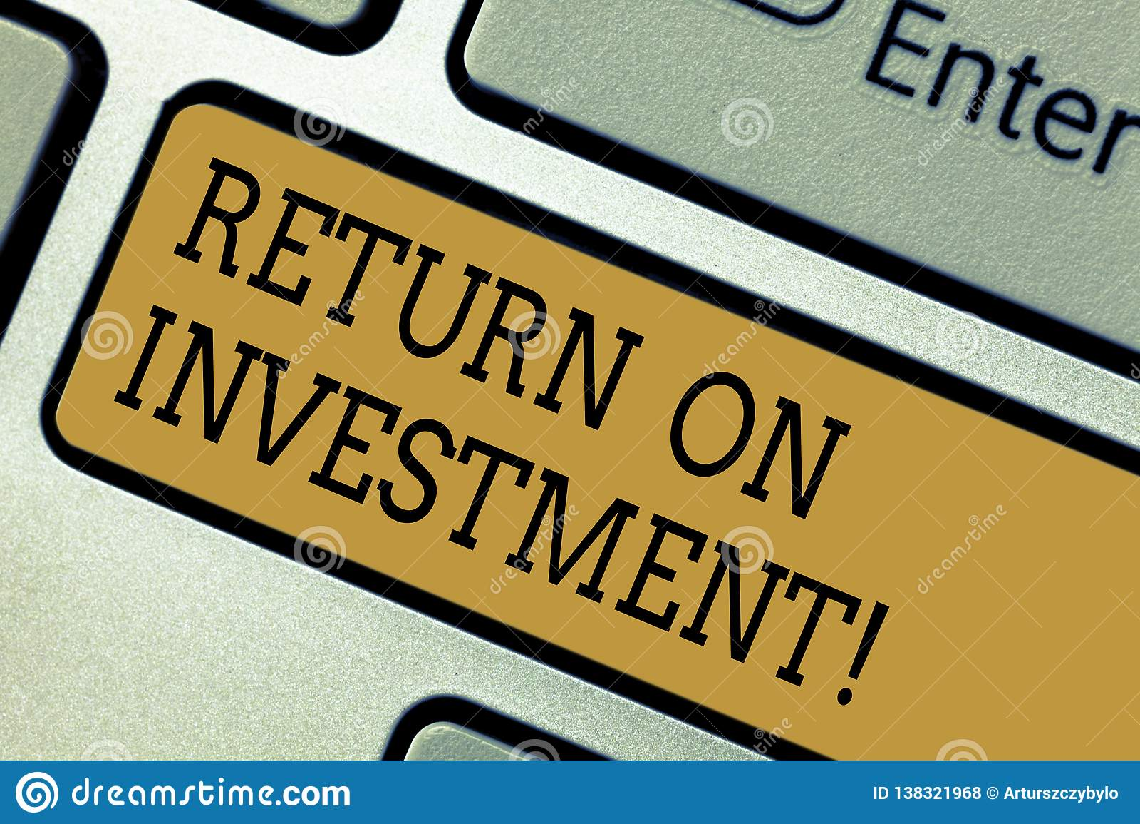 显示的概念性手文字回收投资 企业照片文本测量在引起的损益