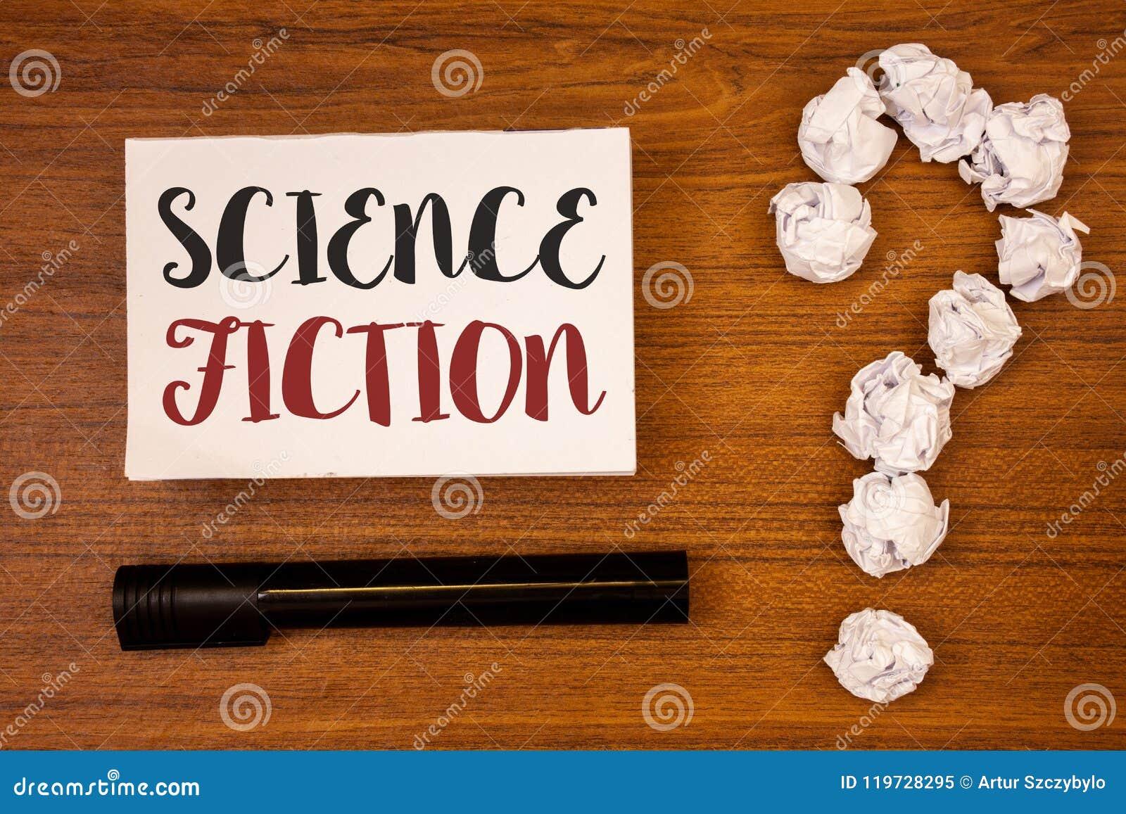 显示科幻的文本标志 概念性在纸的照片幻想娱乐风格未来派意想不到的冒险想法求爱