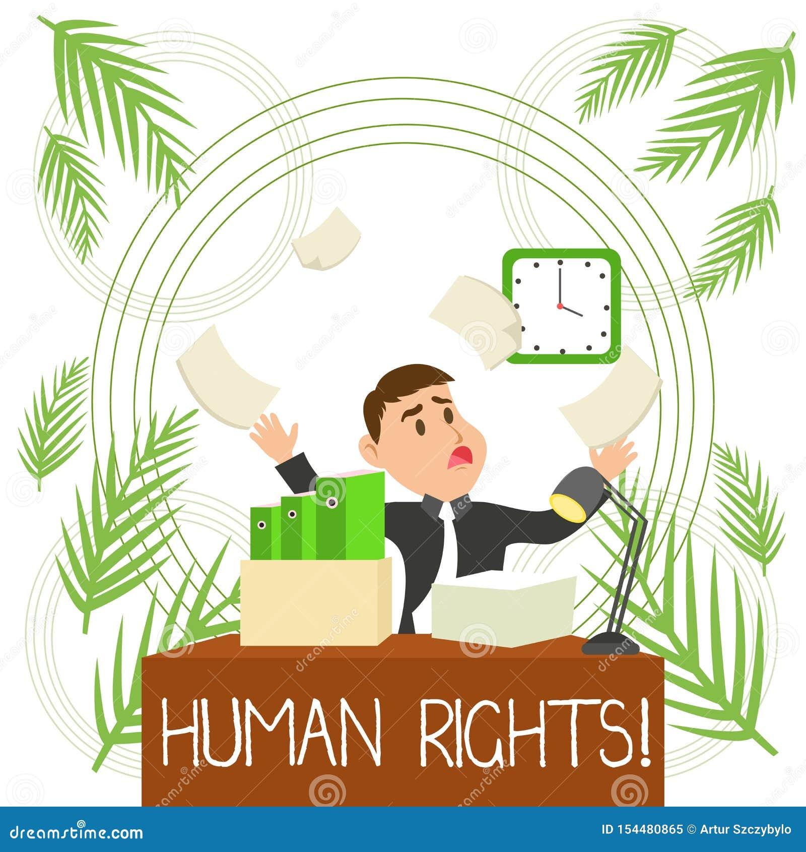 显示Huanalysis权利的概念性手文字 企业照片文本斗争的平等为您的权利