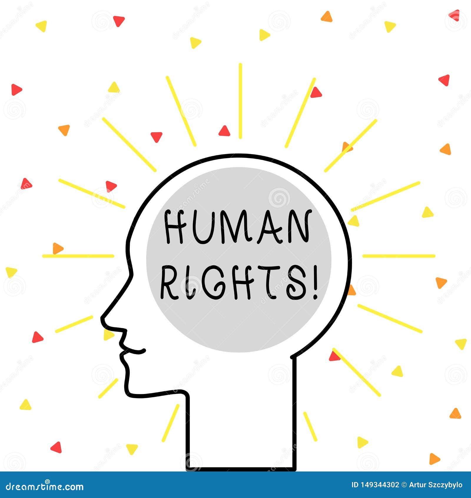 显示Huanalysis权利的概念性手文字 陈列斗争的平等的企业照片为您的权利