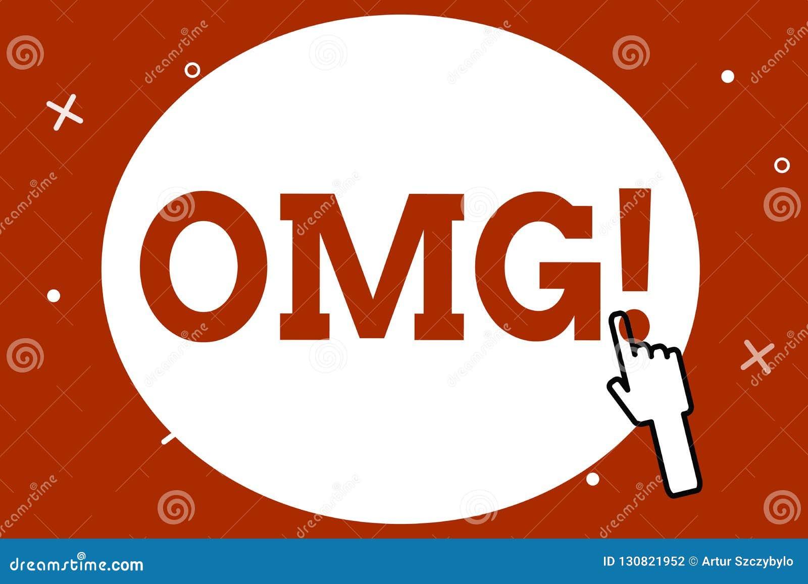 显示Omg的概念性手文字 企业照片陈列用于表达震动兴奋怀疑SMS捷径