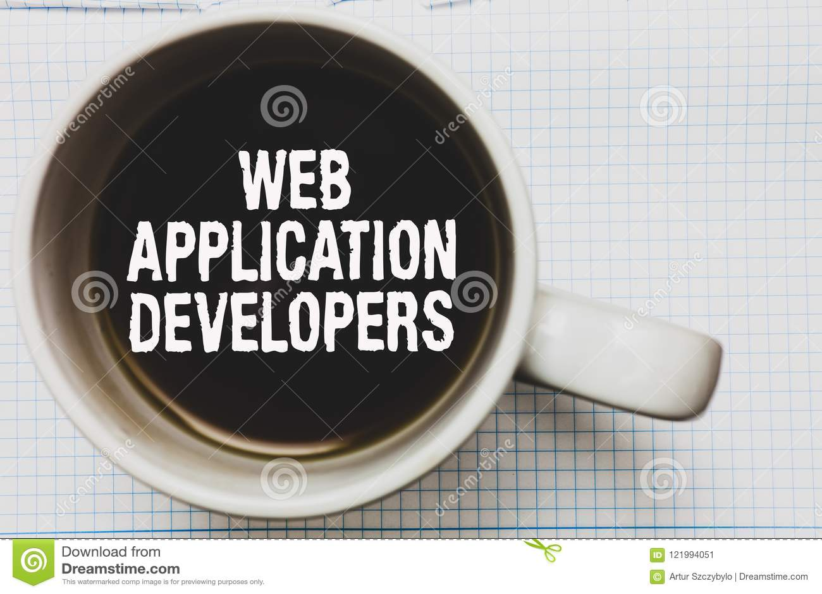 显示Web应用程序开发商的文字笔记 企业照片陈列的互联网编程的专家技术软件咖啡