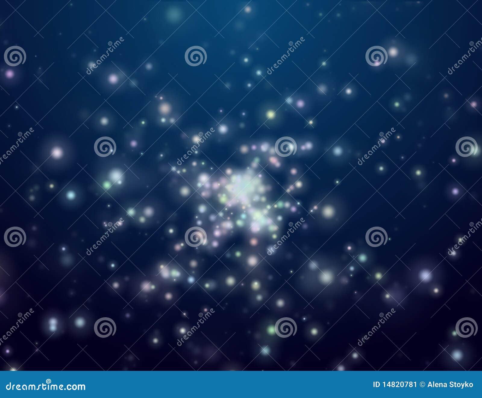 晚上露天空间星形
