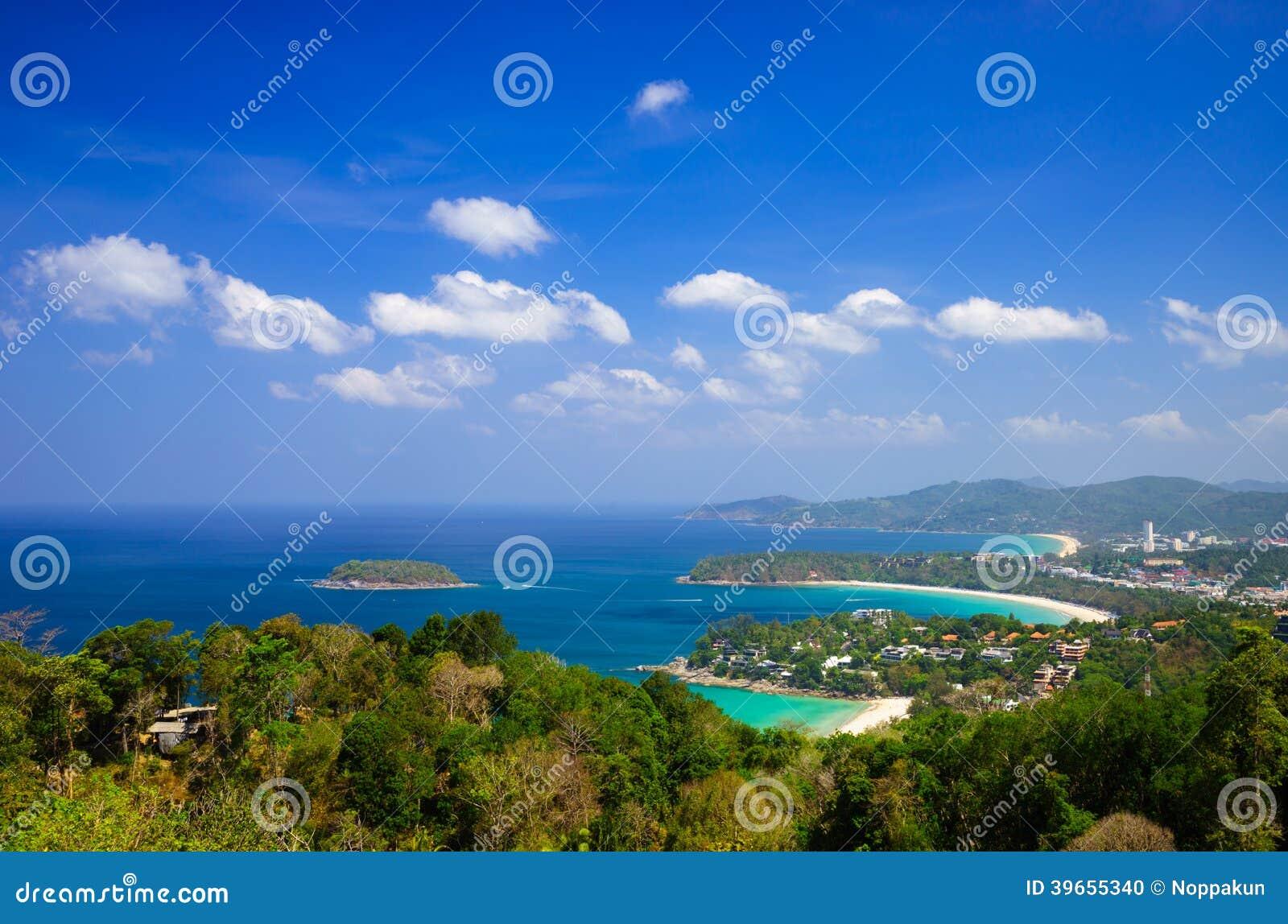 普吉岛,泰国俯视图
