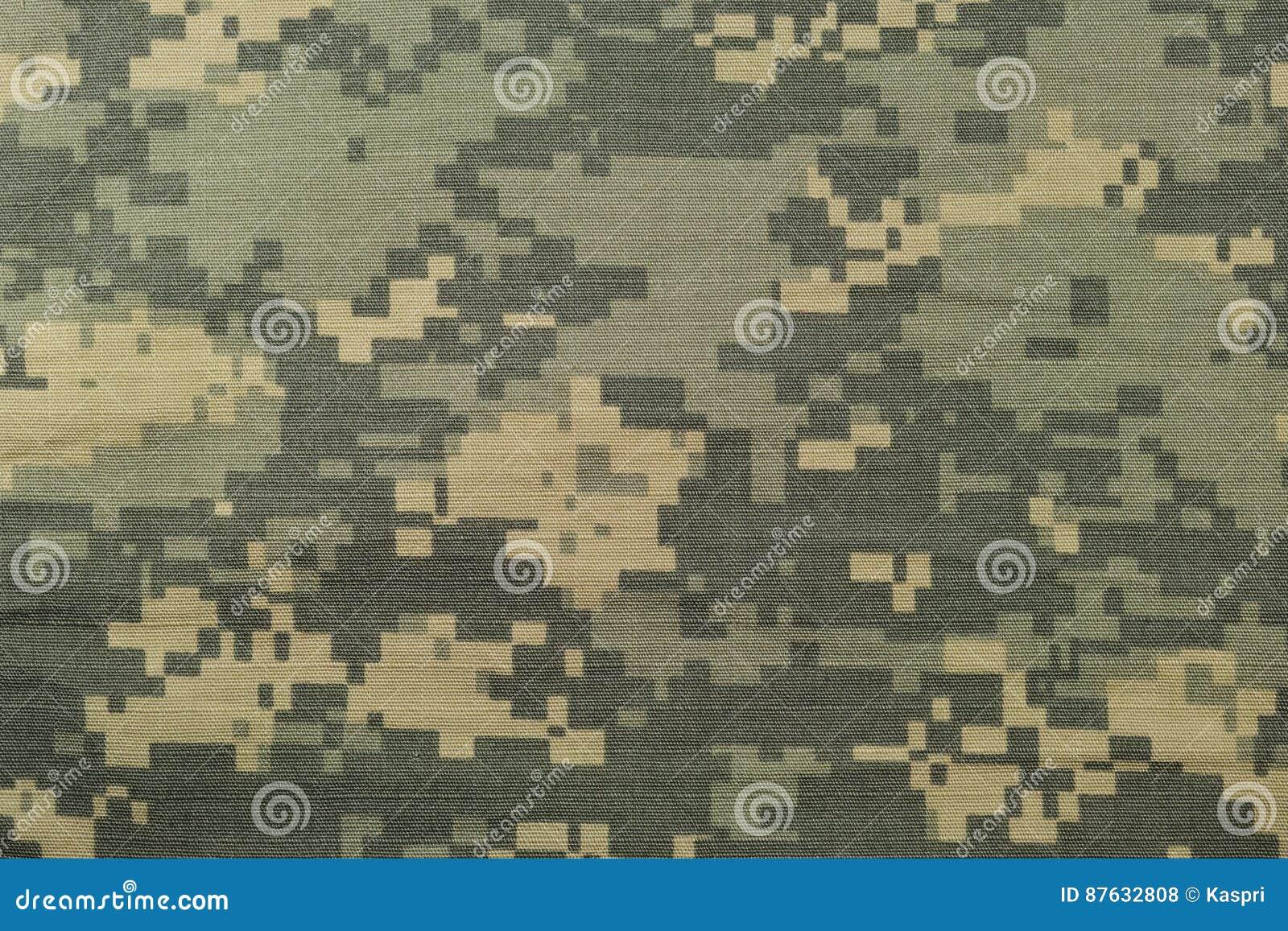 普遍伪装样式,军队作战一致的数字式camo,美国军事ACU宏观特写镜头,详细的大裂口中止织品