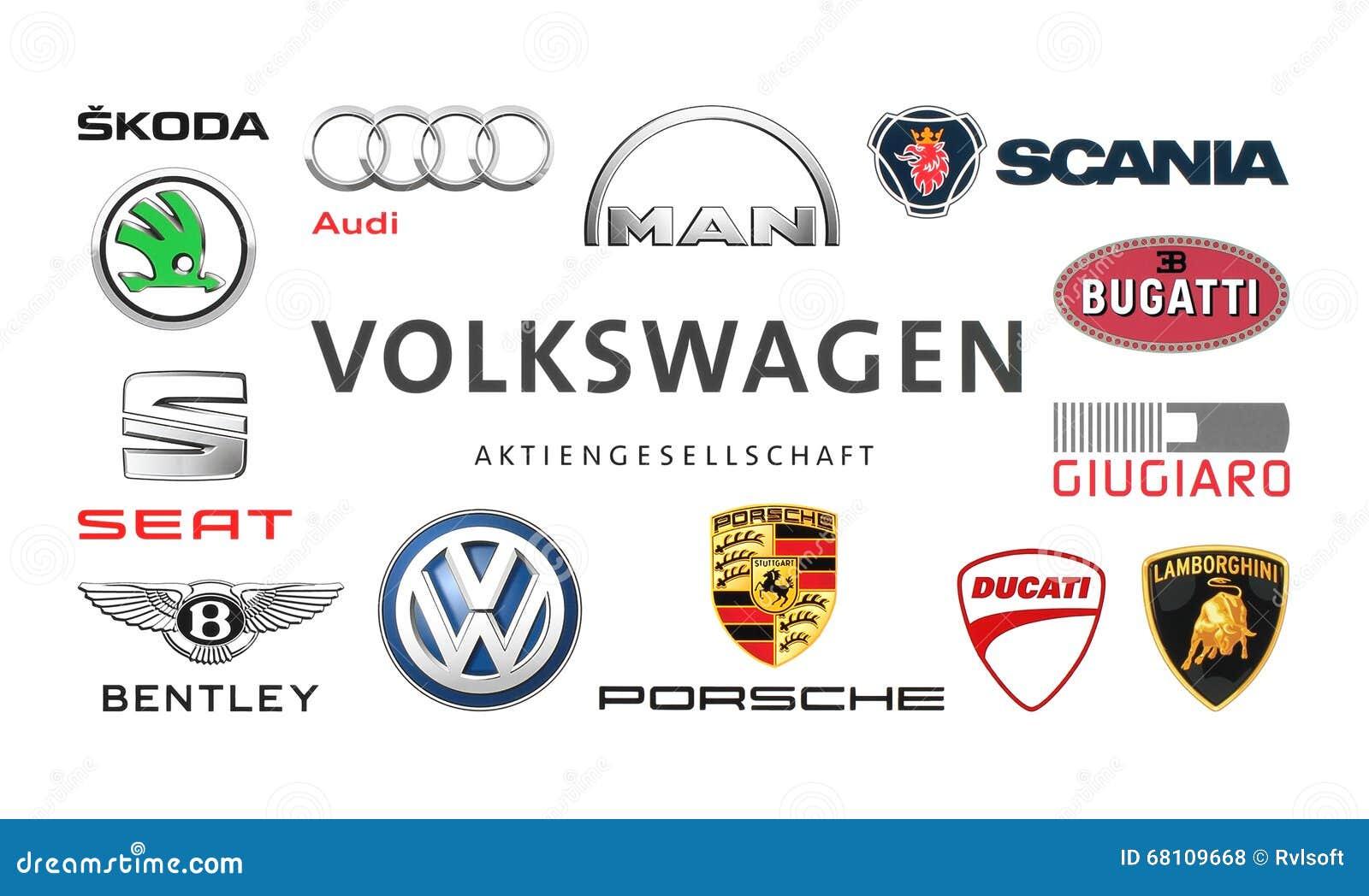 普遍的汽车商标的汇集