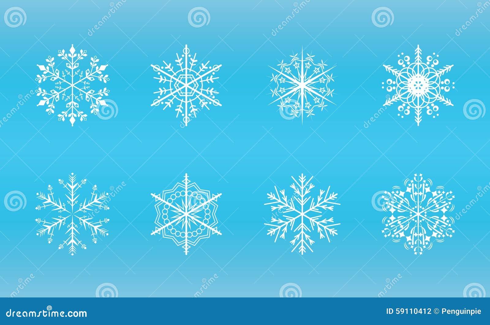 水晶几何冰类似于的形状雪花向量