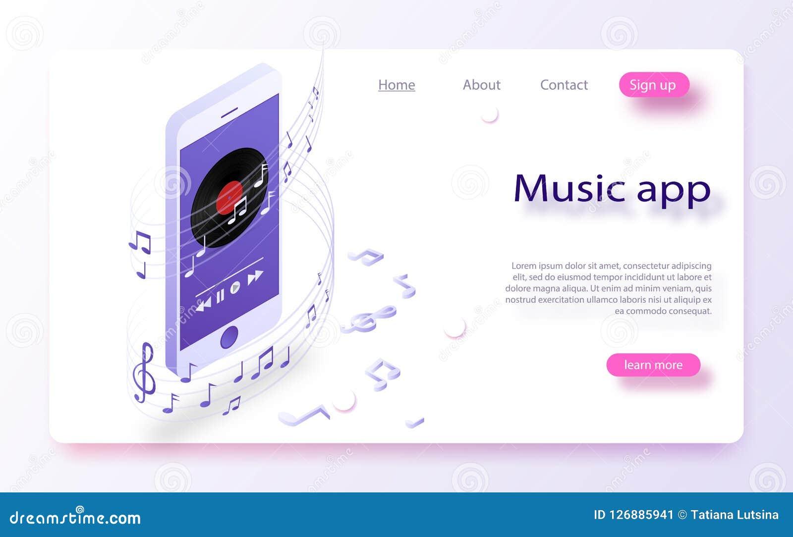 智能手机的音乐播放器有LP圆盘的 流动应用接口 有音乐传媒播放装置接口模板的智能手机