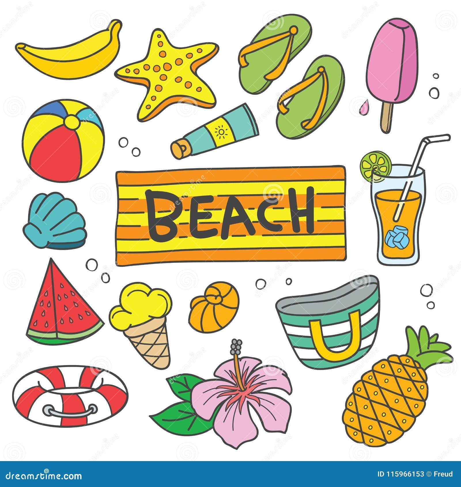 暑假传染媒介动画片例证