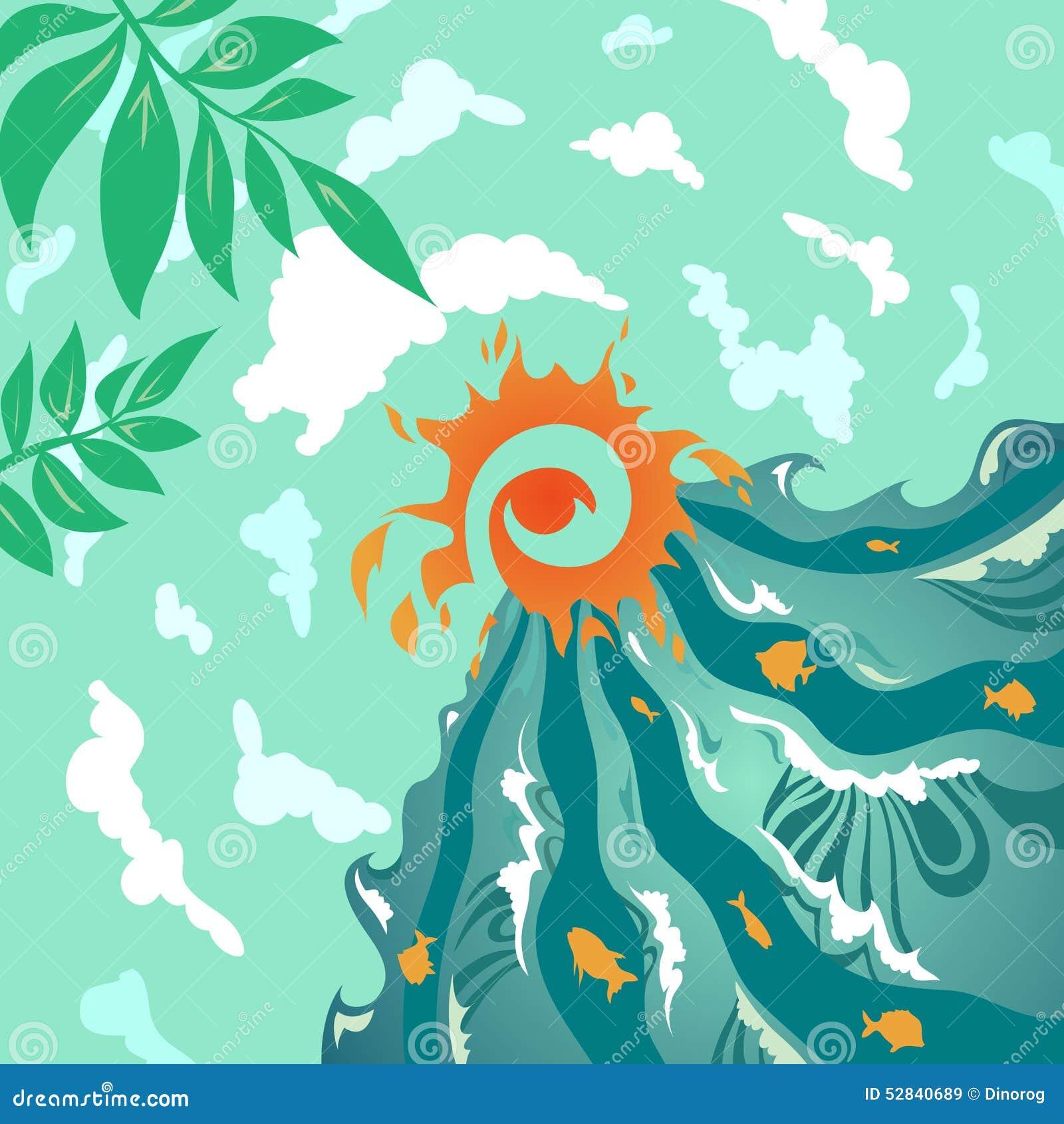 与海,童话和树的夏天传染天空.媒介海报设计毕业论文图片