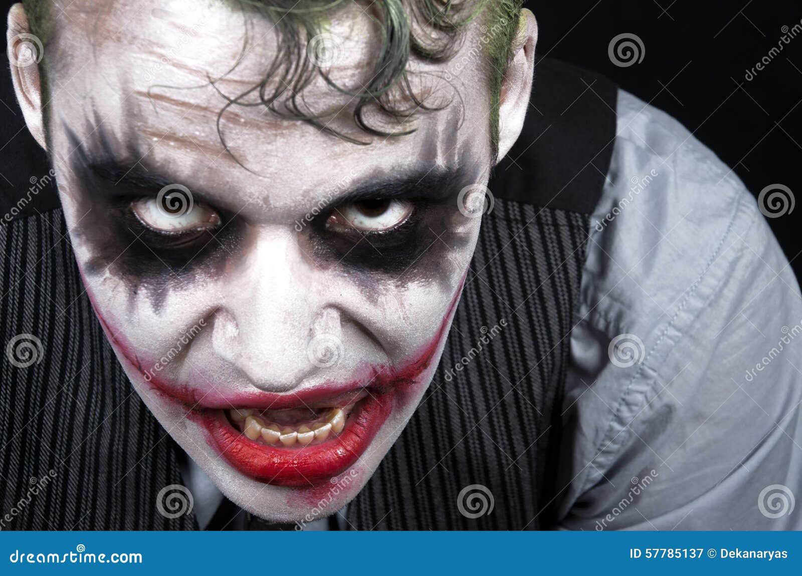黑暗的蠕动的说笑话者面孔