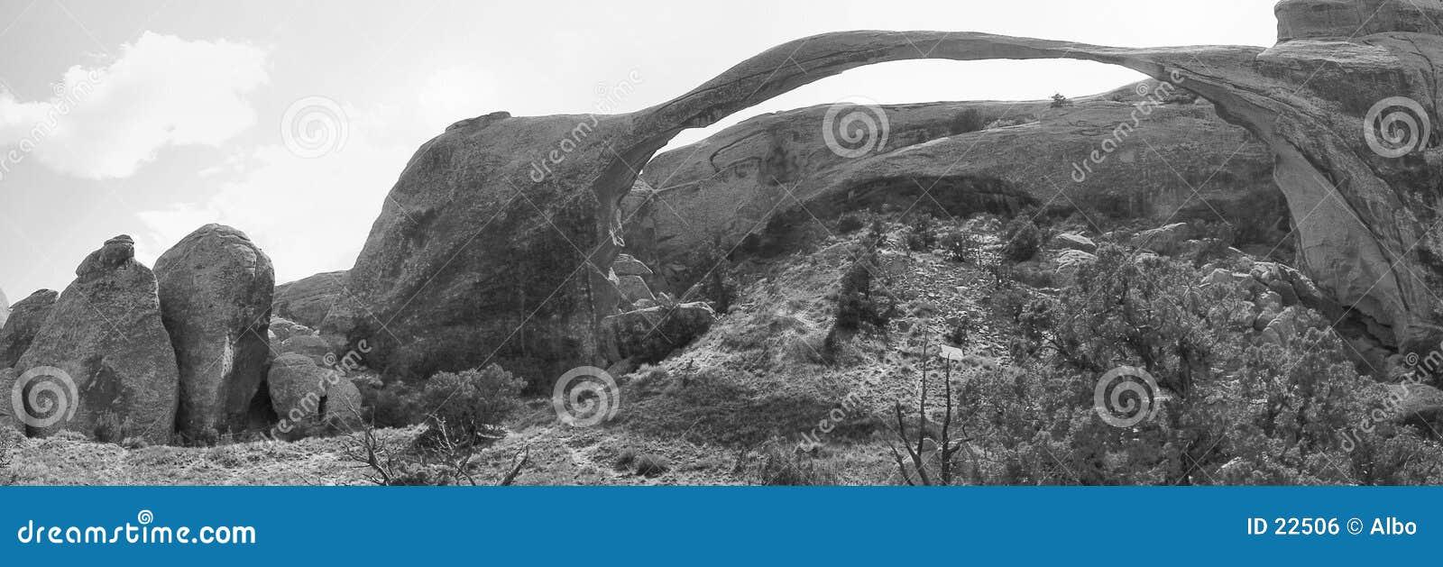 曲拱成拱形横向自然公园