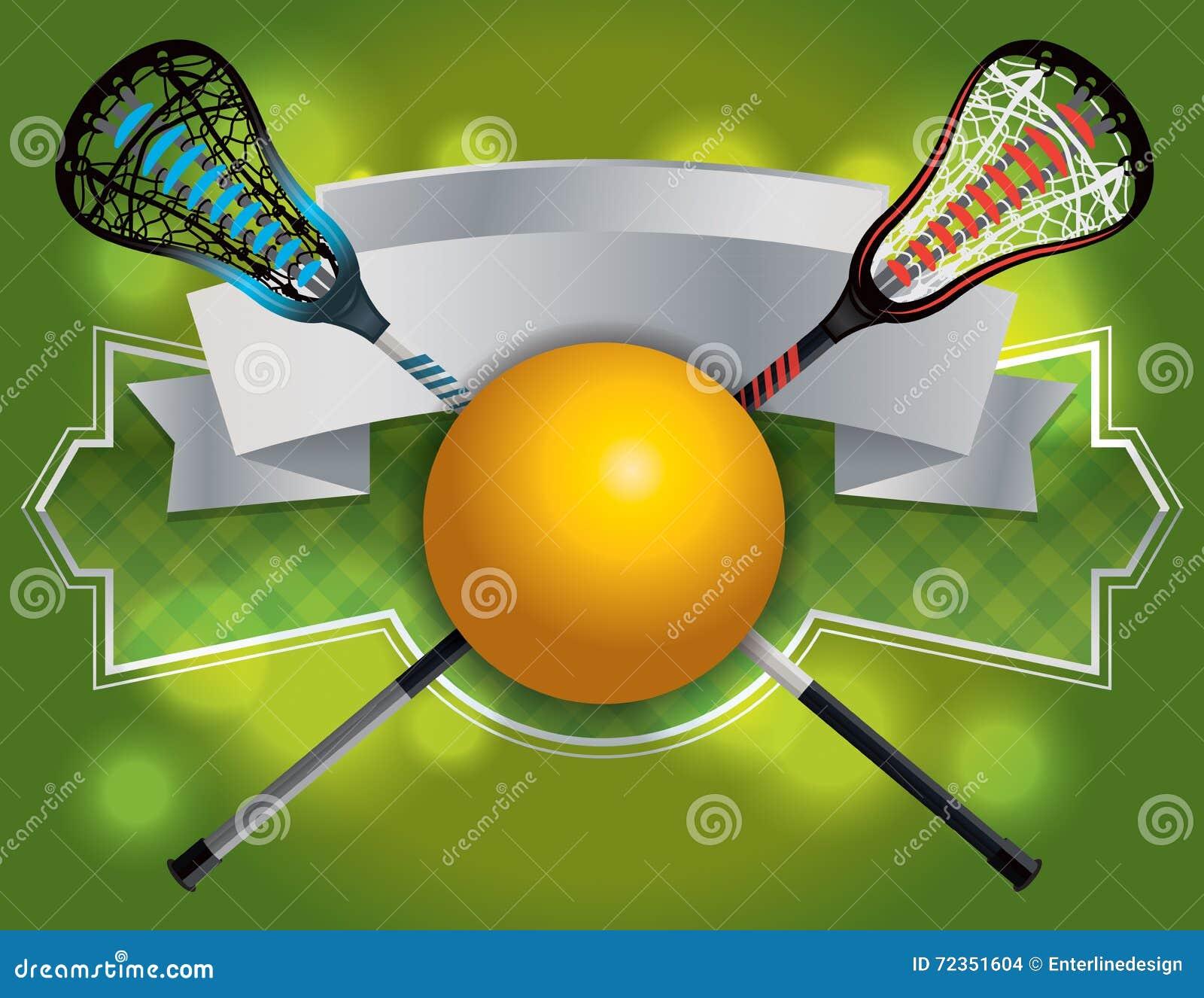 曲棍网兜球象征和横幅例证