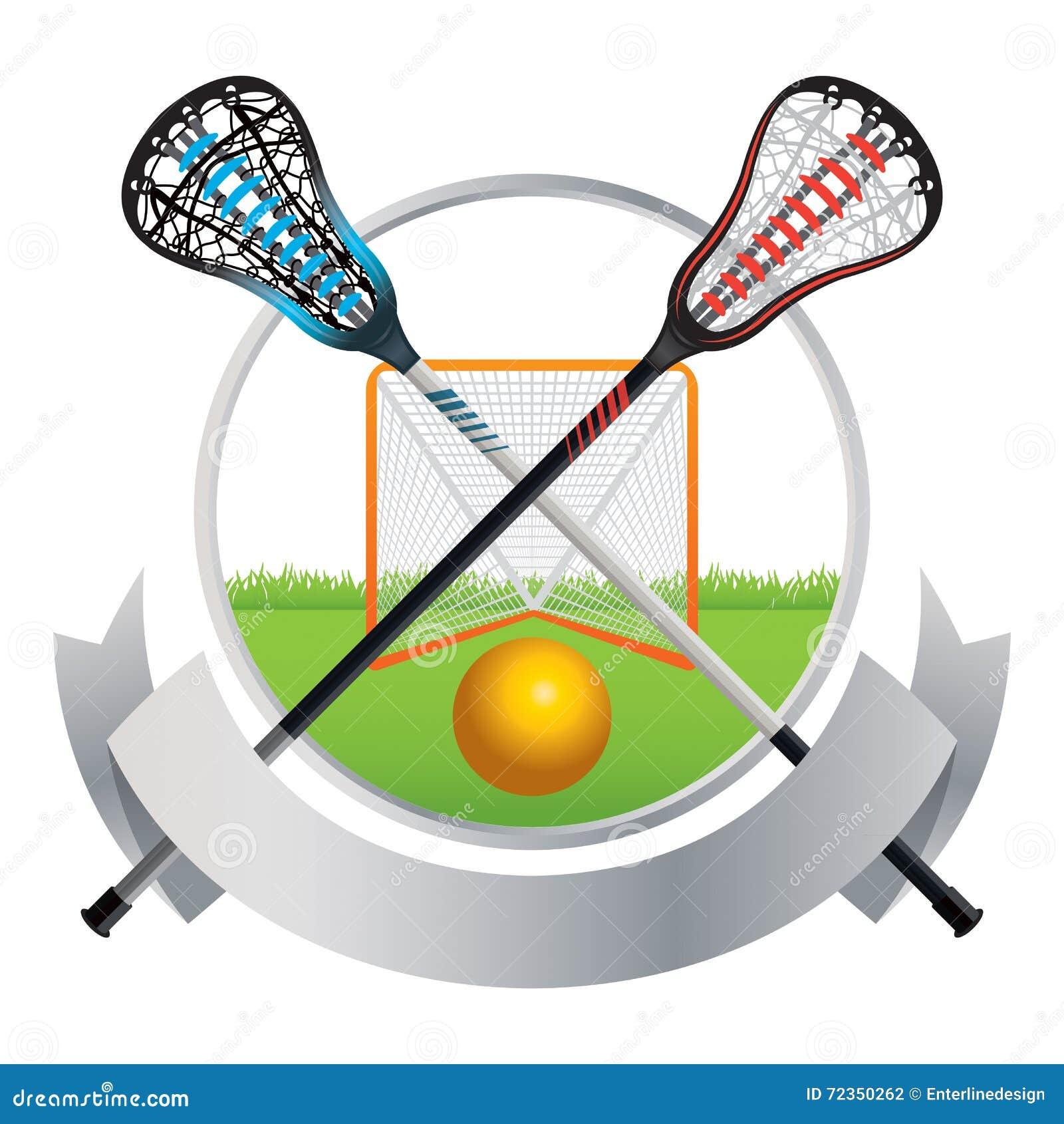 曲棍网兜球象征和横幅设计