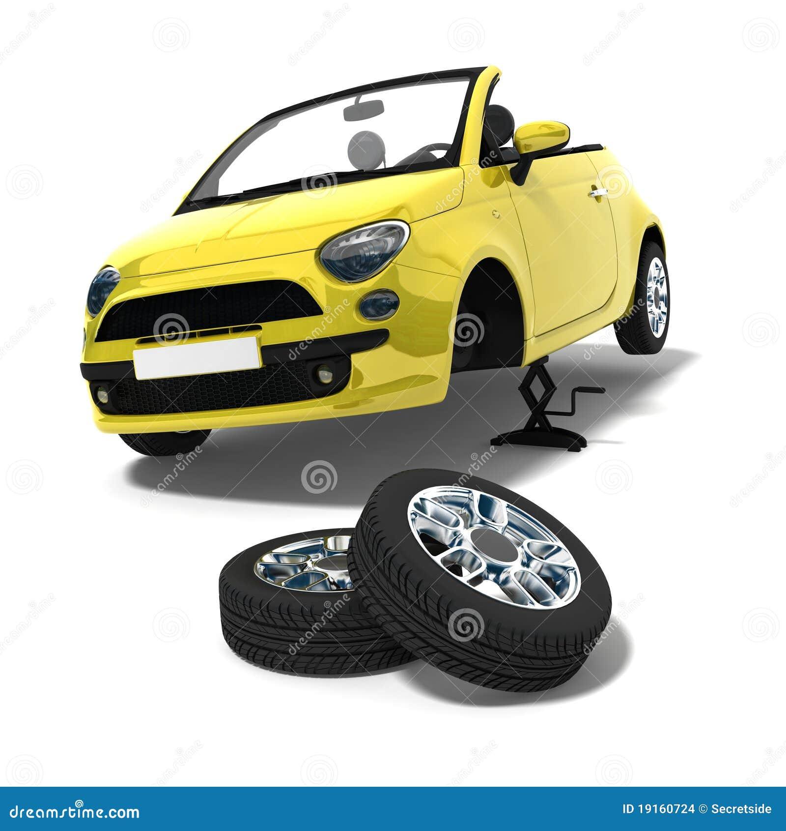 更改的轮胎
