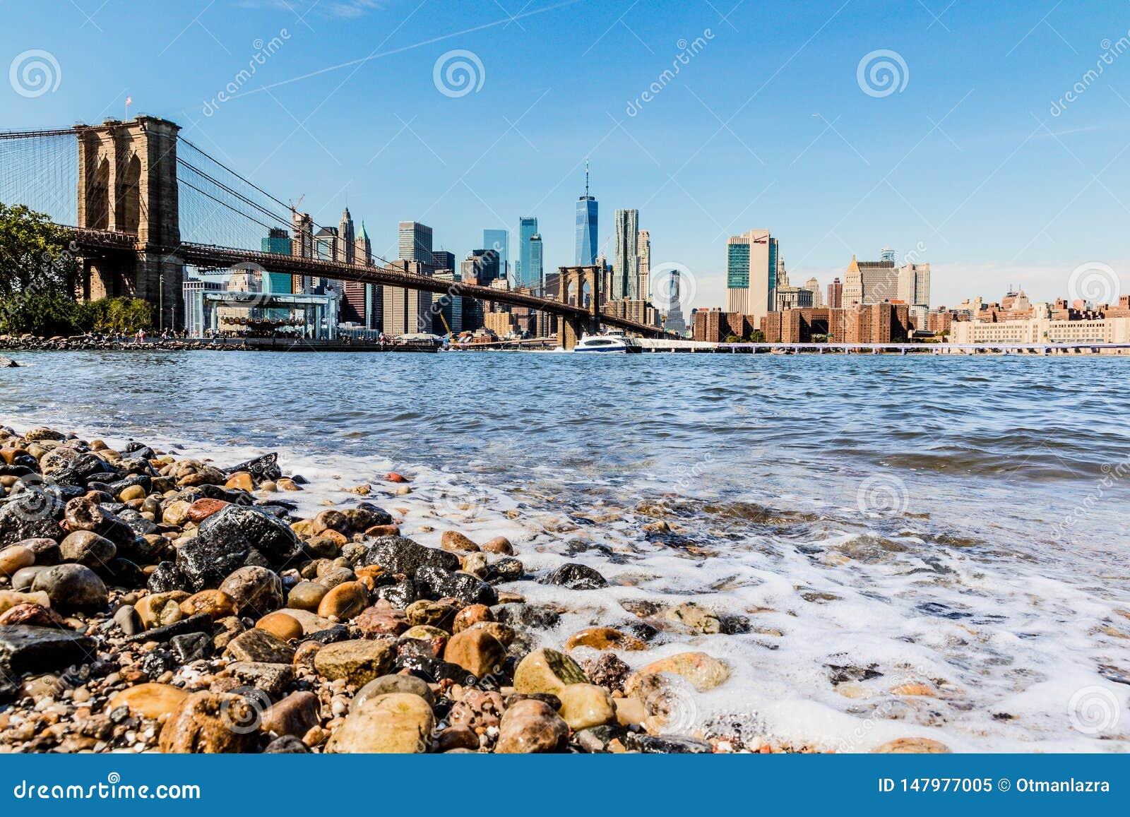 曼哈顿下城街市地平线全景