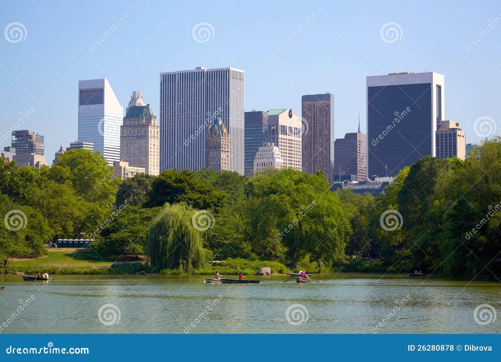 曼哈顿地平线和中央公园