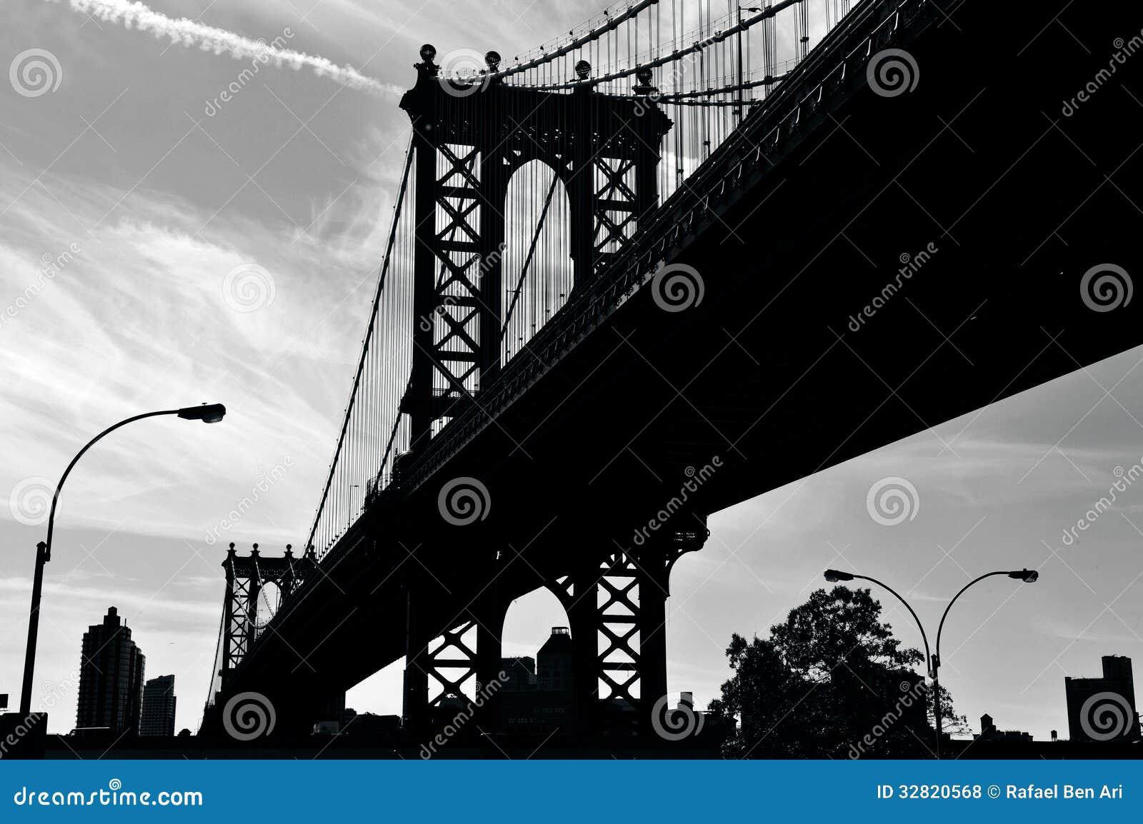 曼哈顿桥梁在曼哈顿纽约
