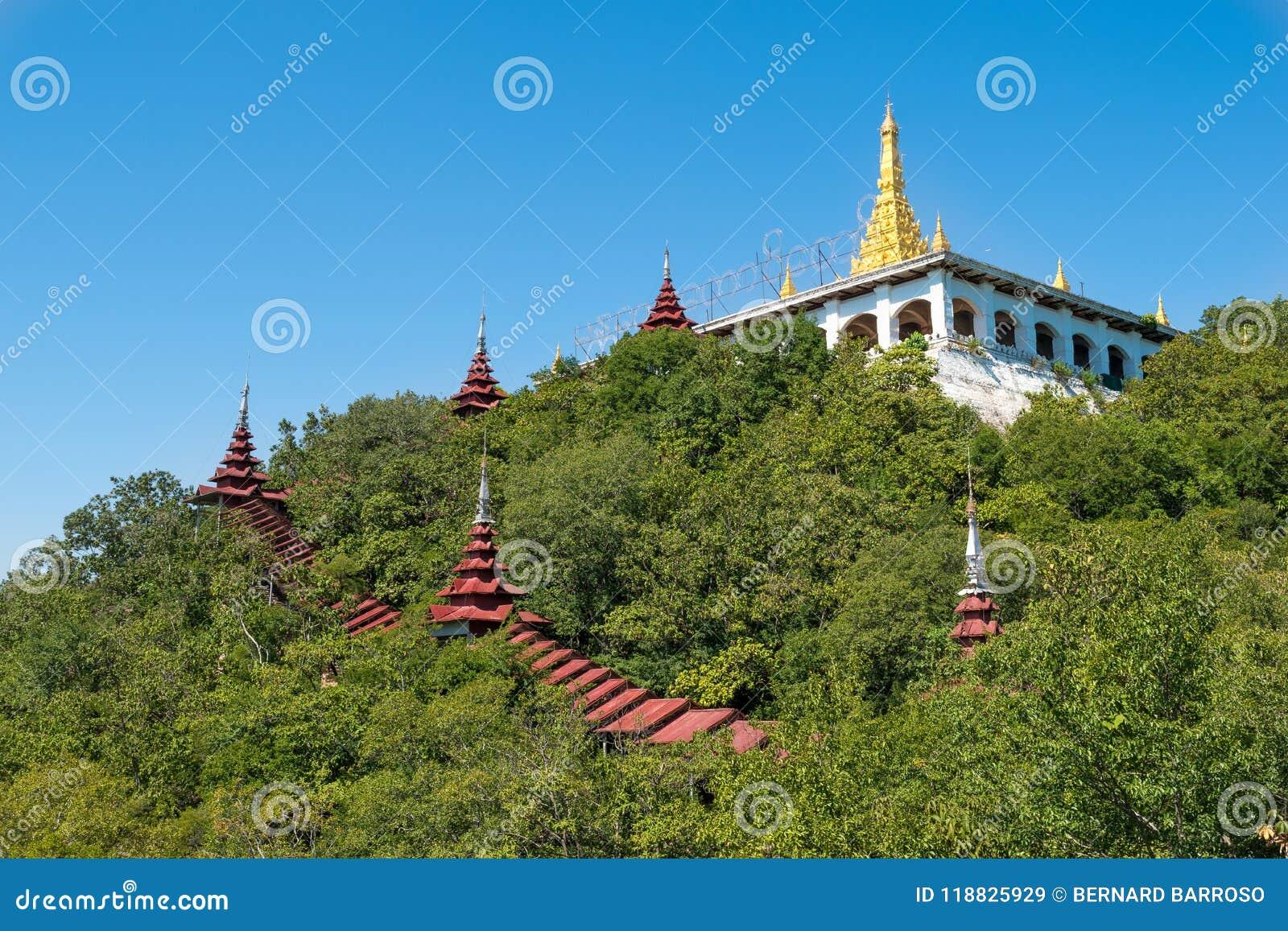 曼德勒小山、缅甸& x28; Burma& x29;